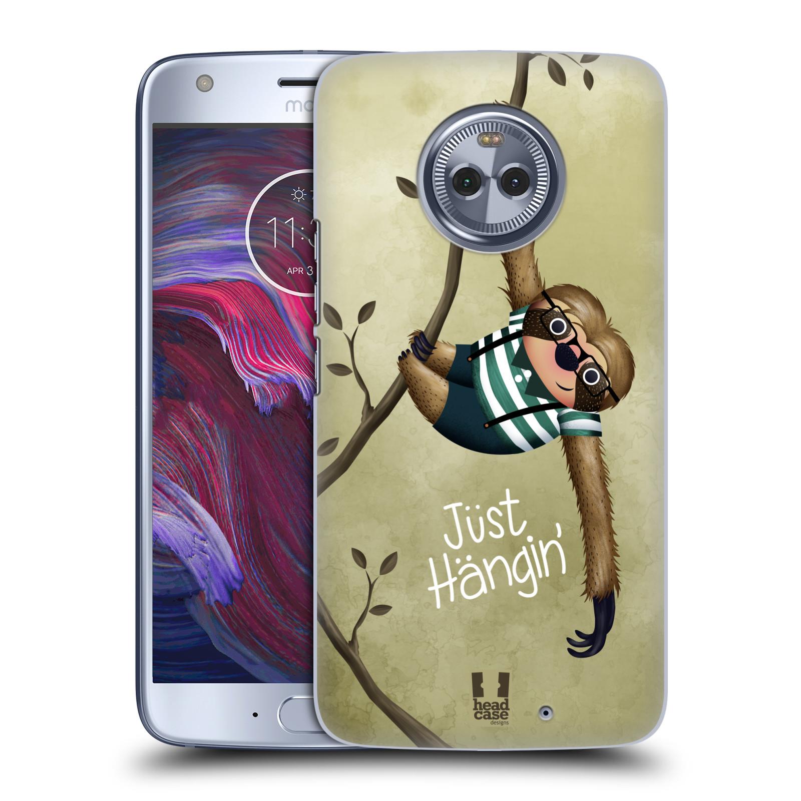 Plastové pouzdro na mobil Lenovo Moto X4 - Head Case - Lenochod Just Hangin