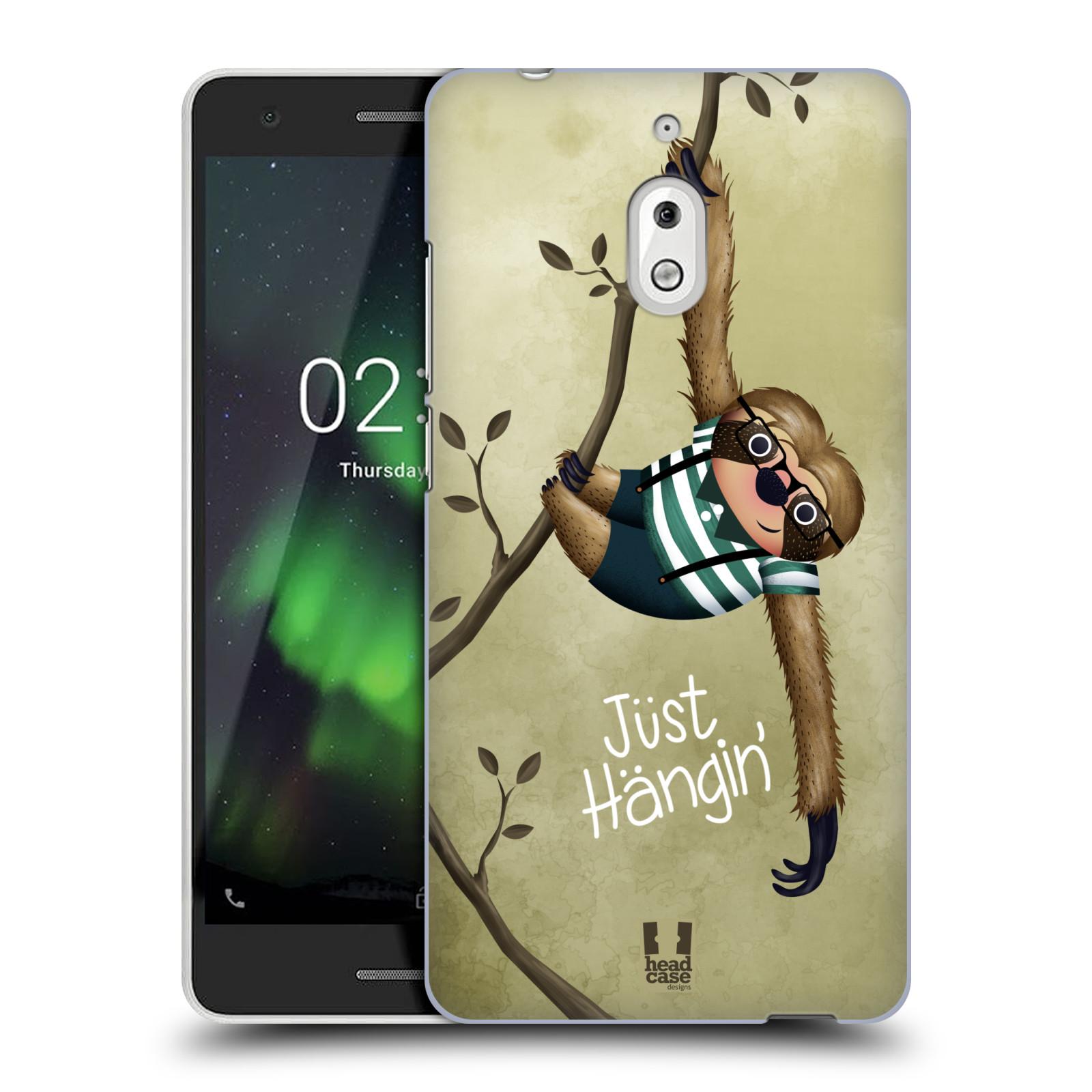 Plastové pouzdro na mobil Nokia 2.1 - Head Case - Lenochod Just Hangin