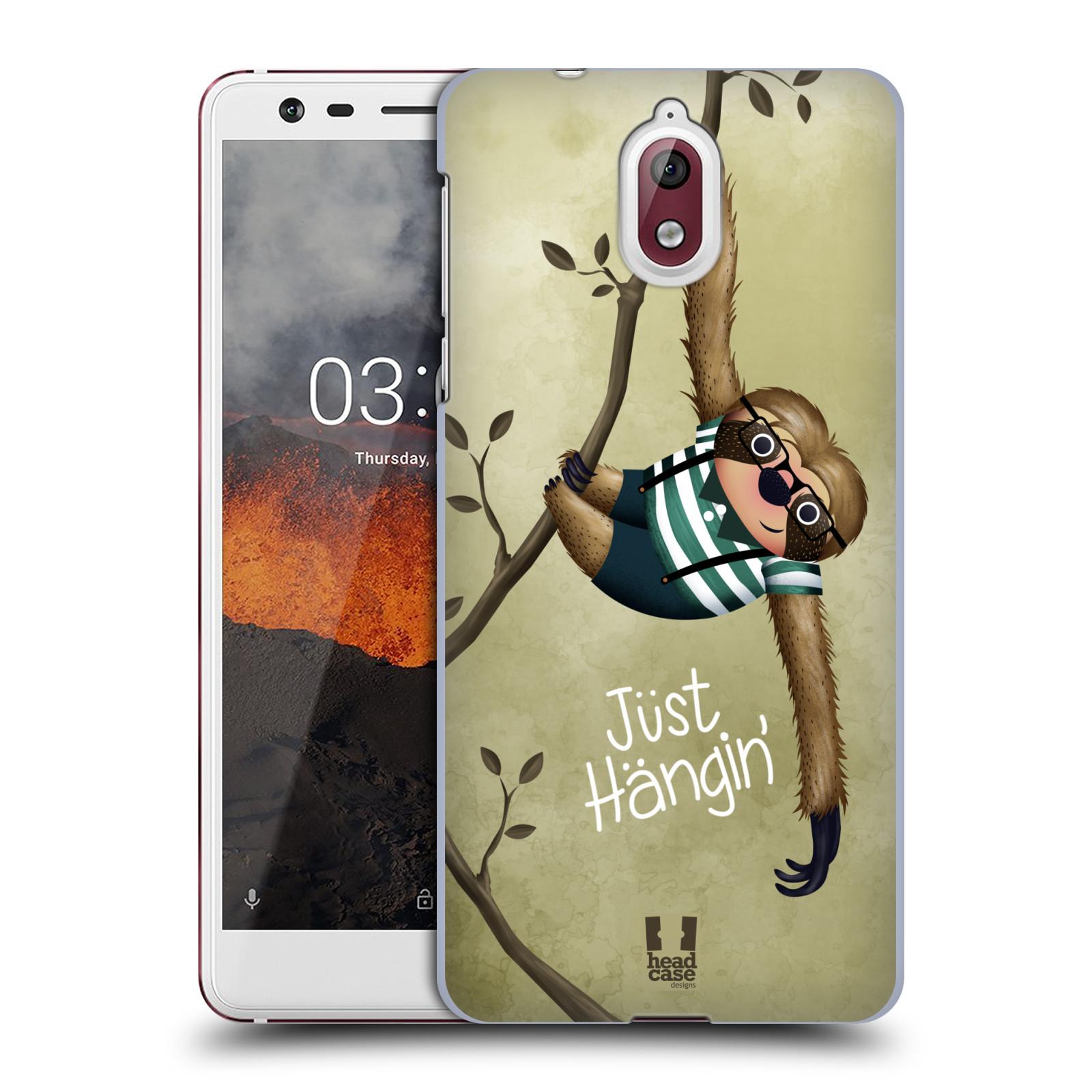 Plastové pouzdro na mobil Nokia 3.1 - Head Case - Lenochod Just Hangin
