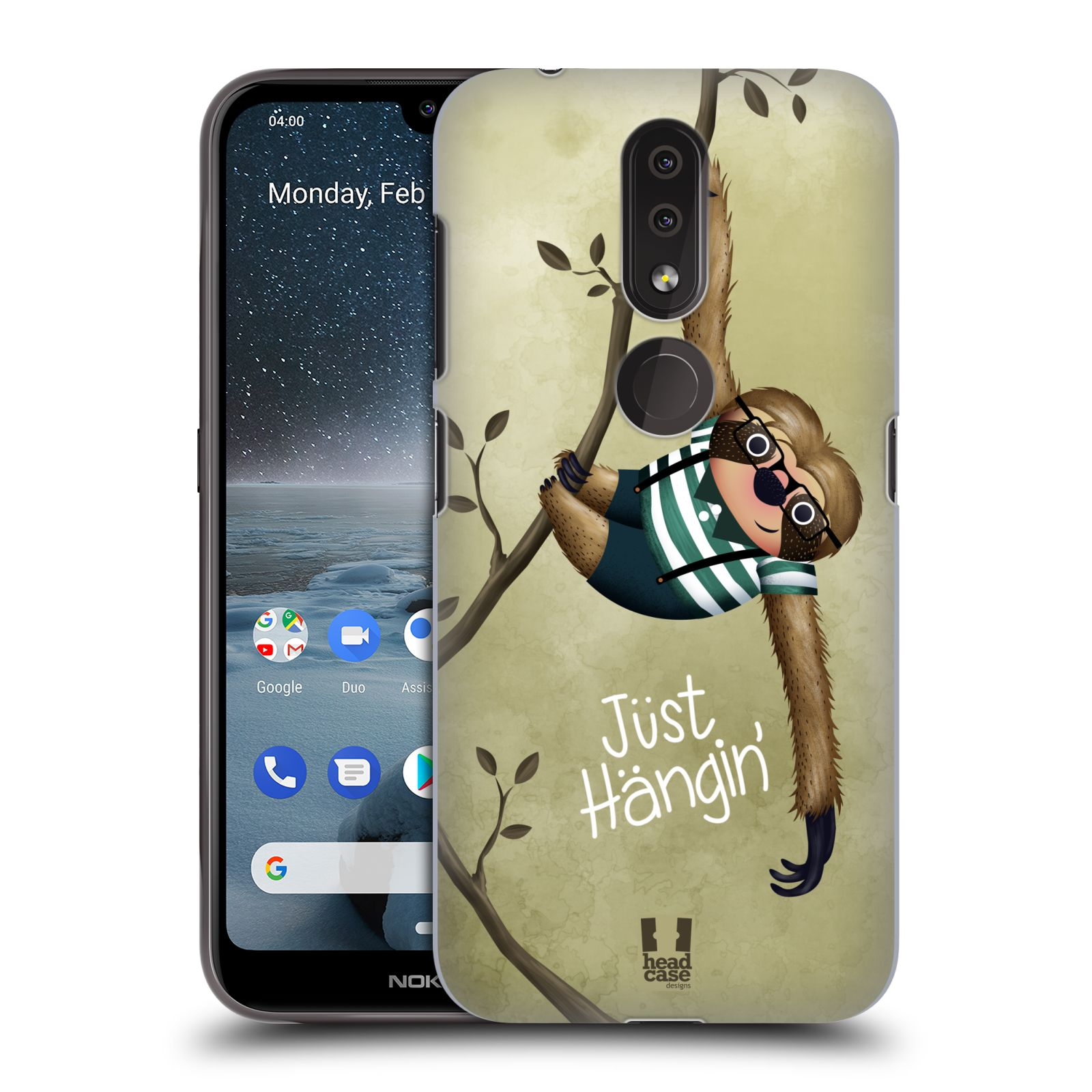 Plastové pouzdro na mobil Nokia 4.2 - Head Case - Lenochod Just Hangin