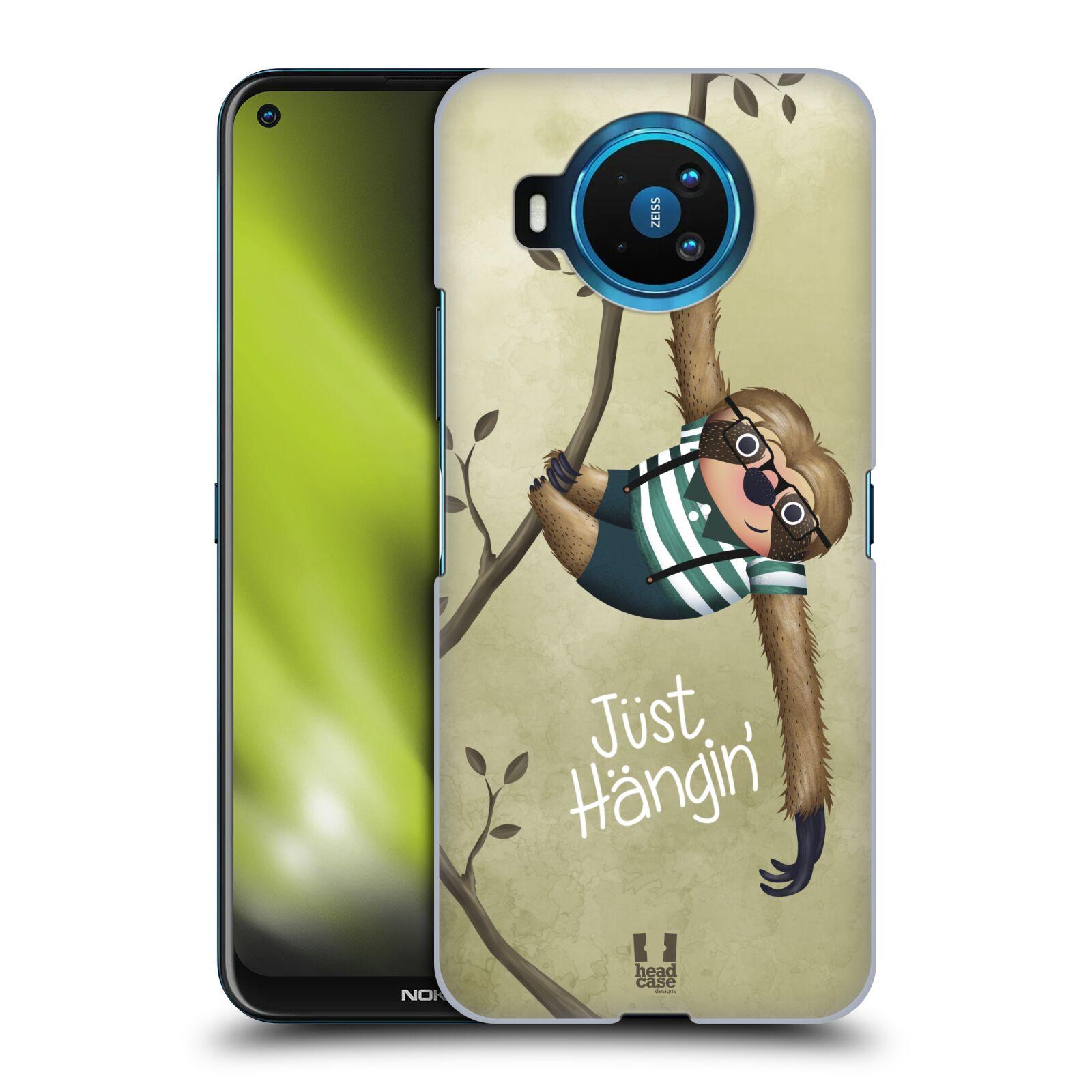 Plastové pouzdro na mobil Nokia 8.3 5G - Head Case - Lenochod Just Hangin