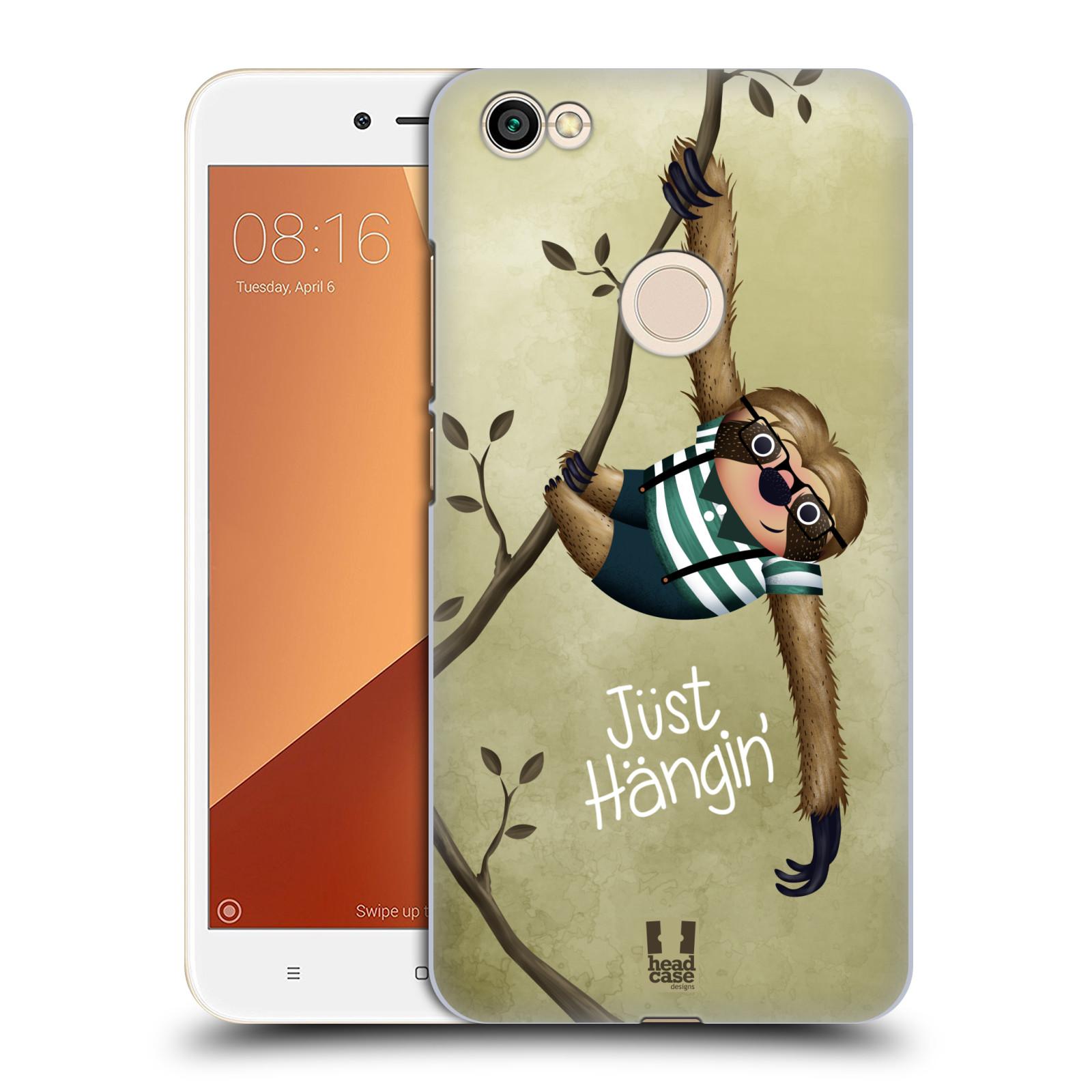 Plastové pouzdro na mobil Xiaomi Redmi Note 5A Prime - Head Case - Lenochod Just Hangin
