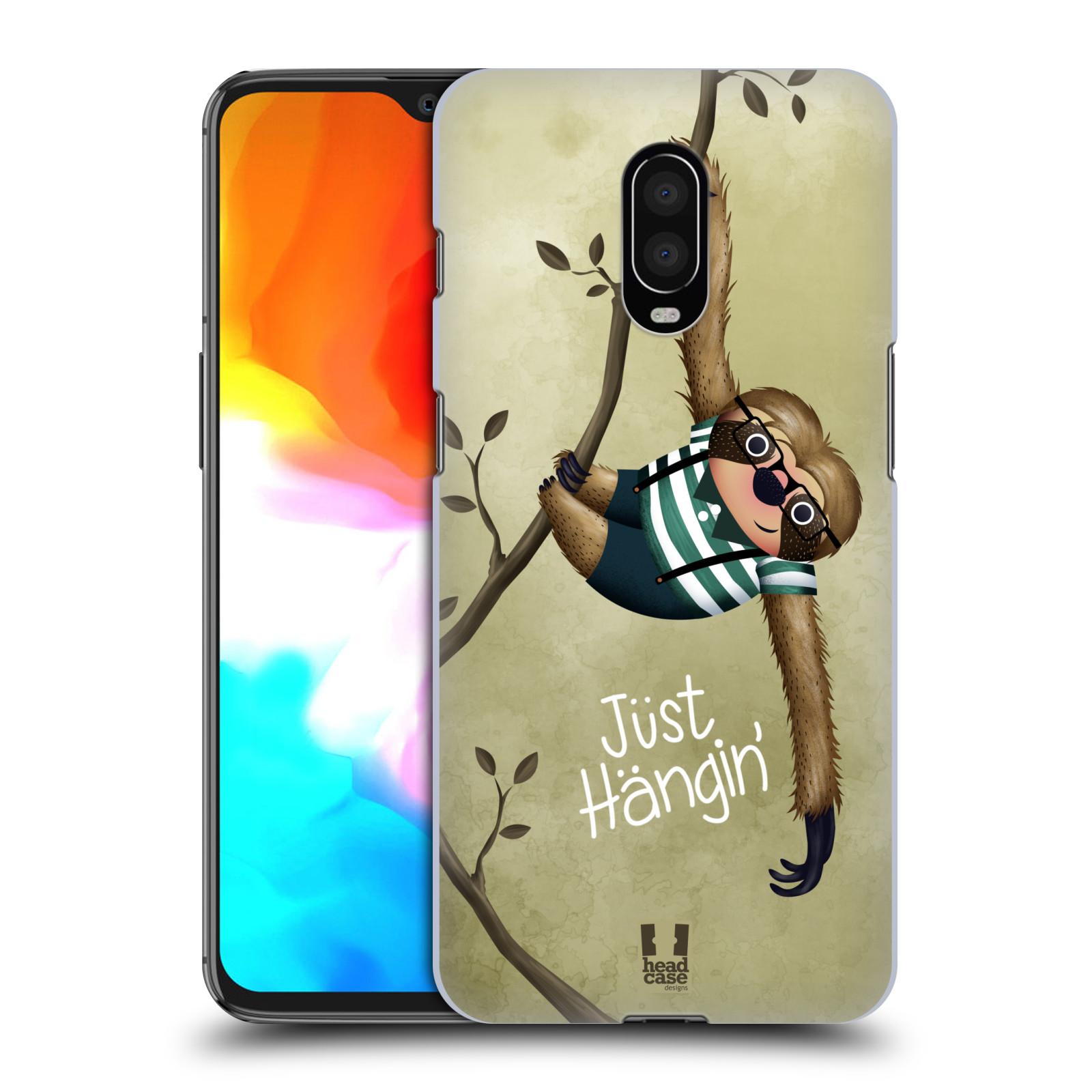Plastové pouzdro na mobil OnePlus 6T - Head Case - Lenochod Just Hangin