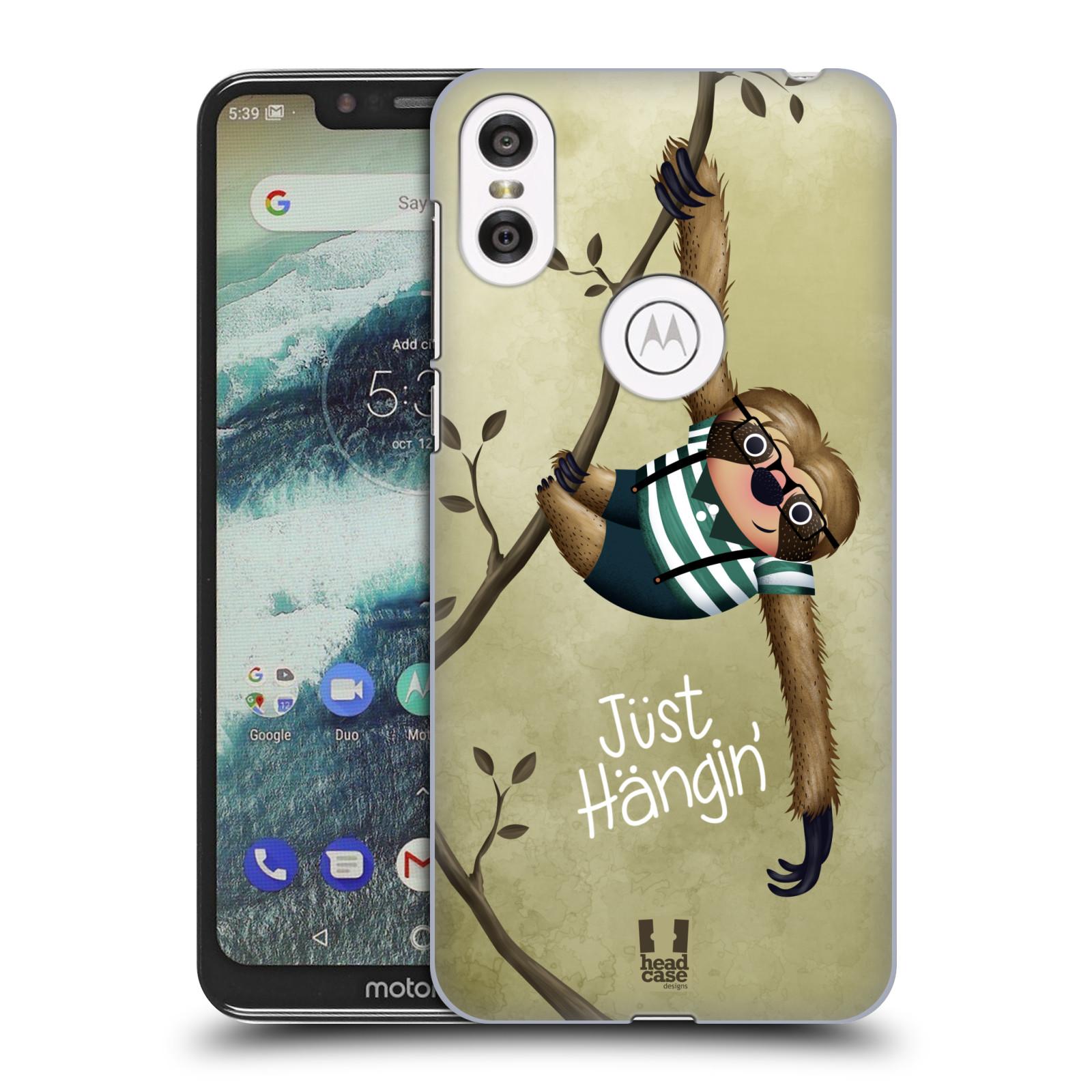 Plastové pouzdro na mobil Motorola One - Head Case - Lenochod Just Hangin