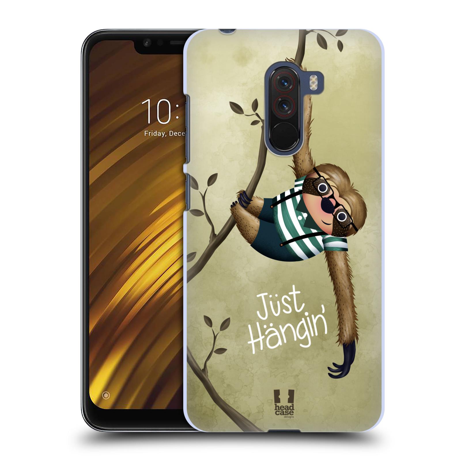 Plastové pouzdro na mobil Xiaomi Pocophone F1 - Head Case - Lenochod Just Hangin