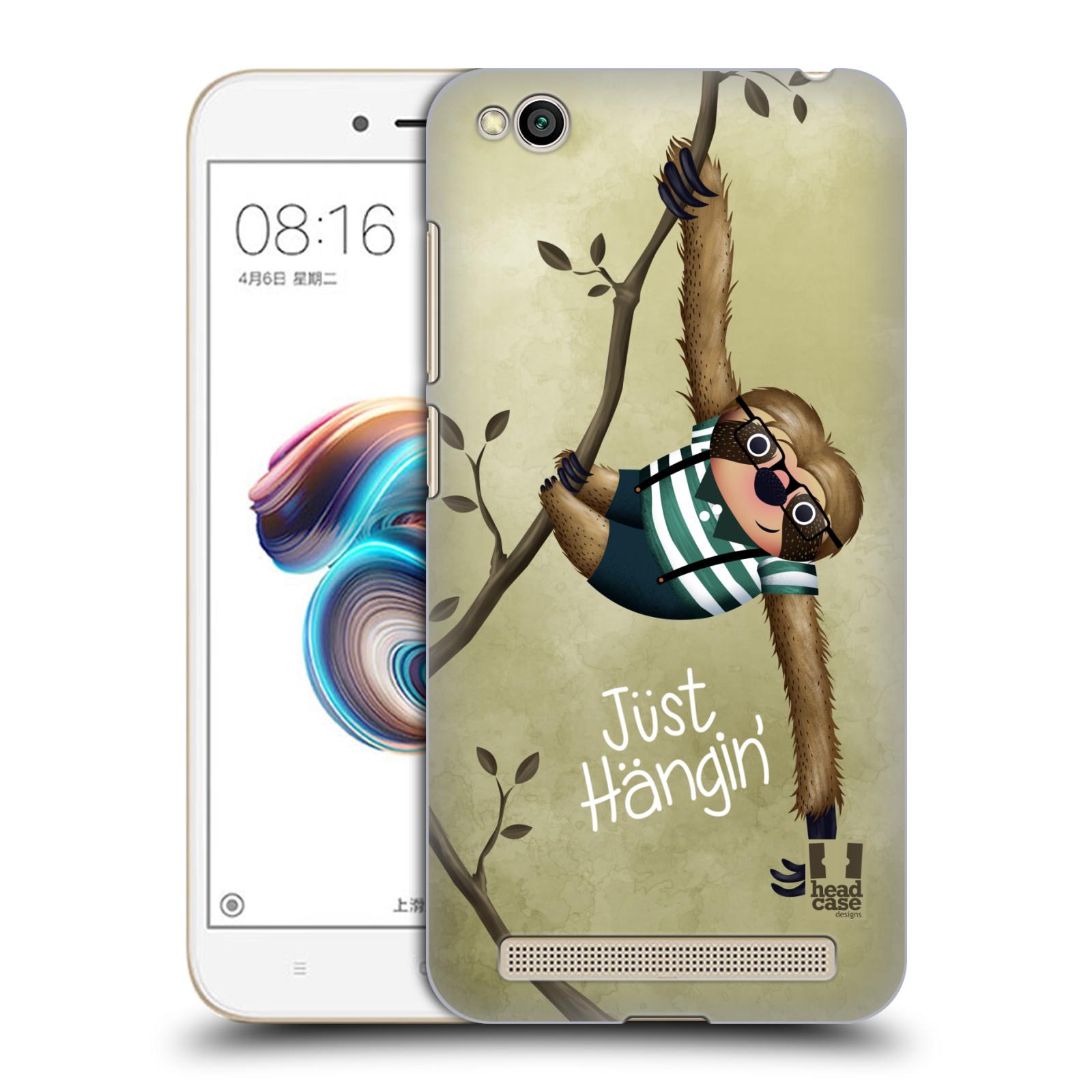 Plastové pouzdro na mobil Xiaomi Redmi 5A - Head Case - Lenochod Just Hangin