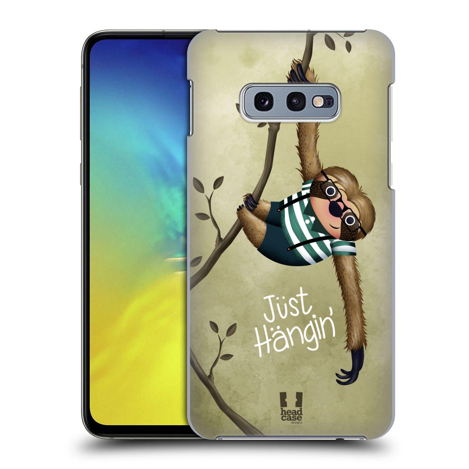 Plastové pouzdro na mobil Samsung Galaxy S10e - Head Case - Lenochod Just Hangin