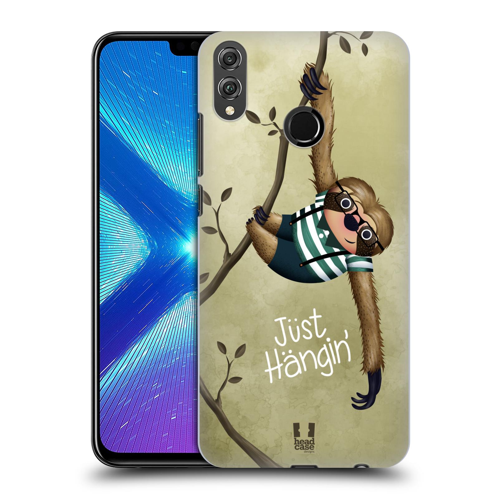 Plastové pouzdro na mobil Honor 8X - Head Case - Lenochod Just Hangin