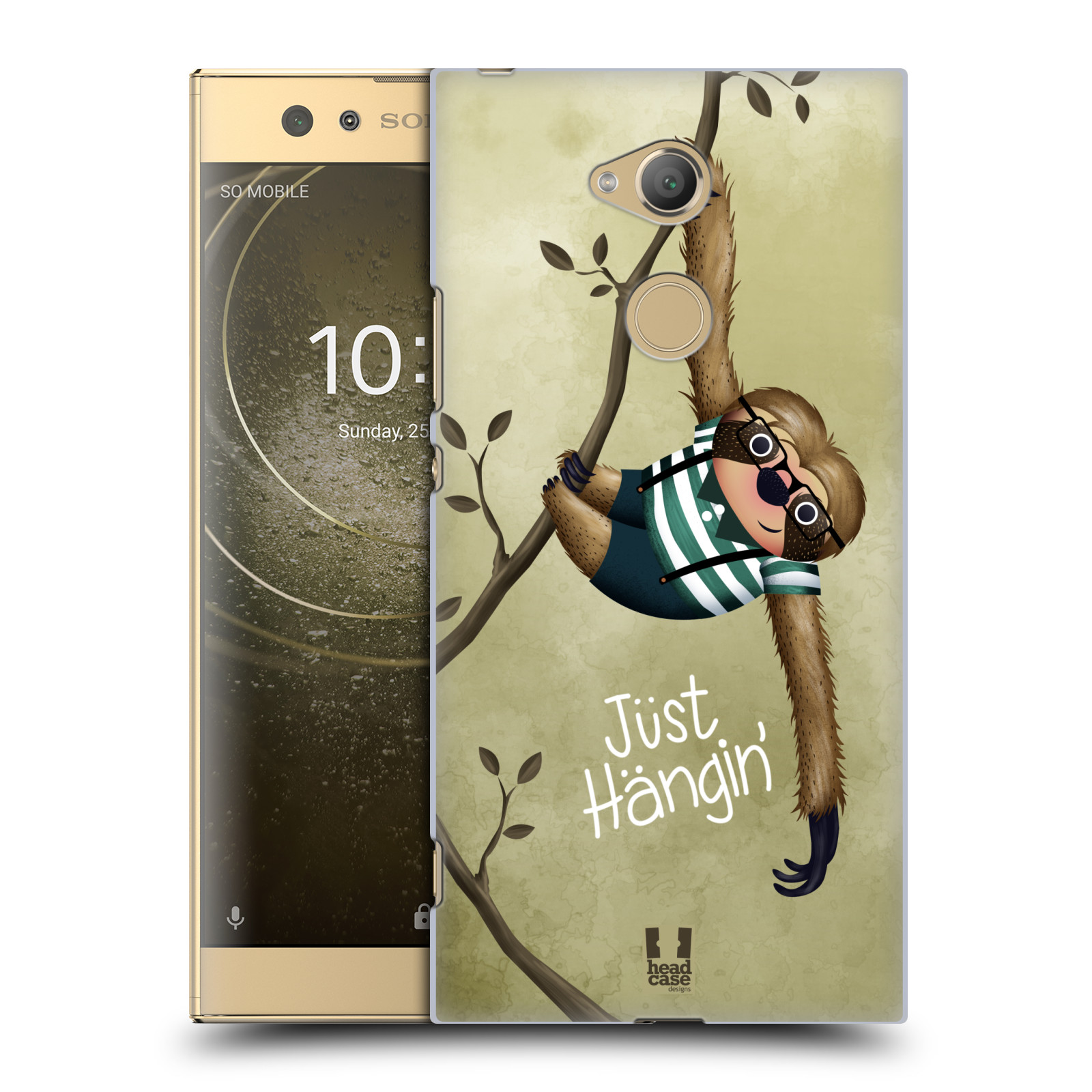 Plastové pouzdro na mobil Sony Xperia XA2 Ultra - Head Case - Lenochod Just Hangin