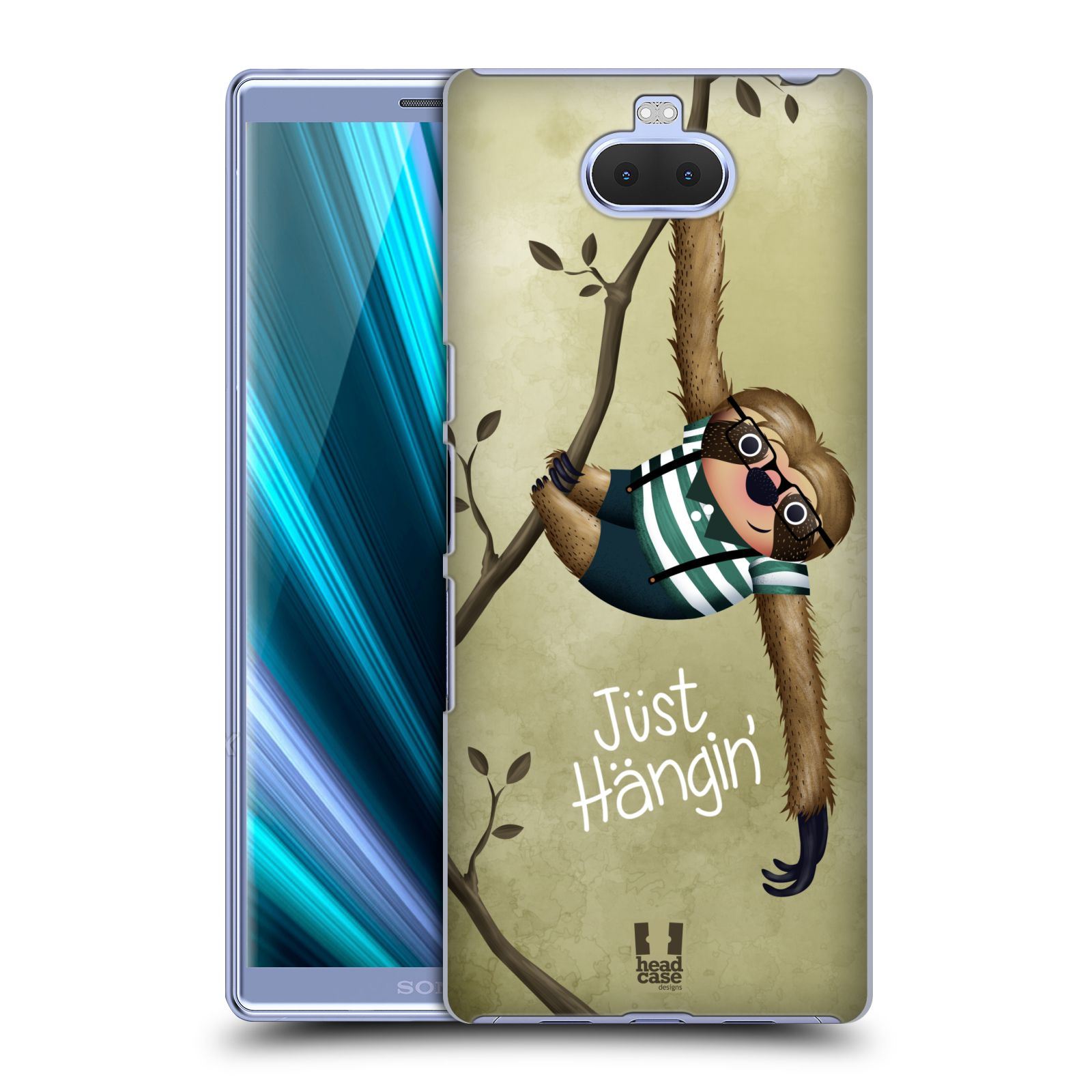 Plastové pouzdro na mobil Sony Xperia 10 - Head Case - Lenochod Just Hangin