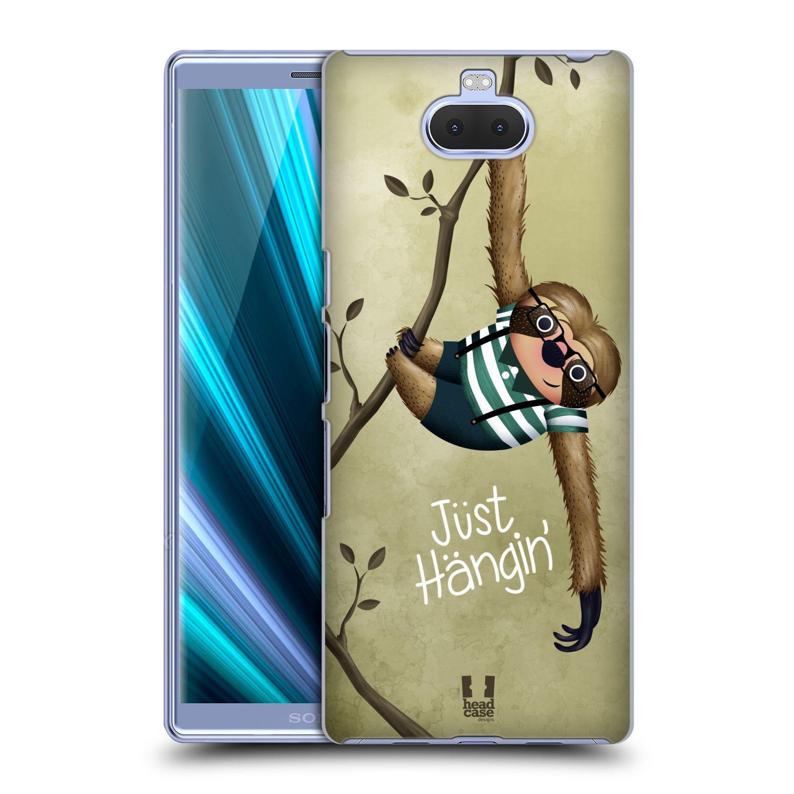 Plastové pouzdro na mobil Sony Xperia 10 Plus - Head Case - Lenochod Just Hangin