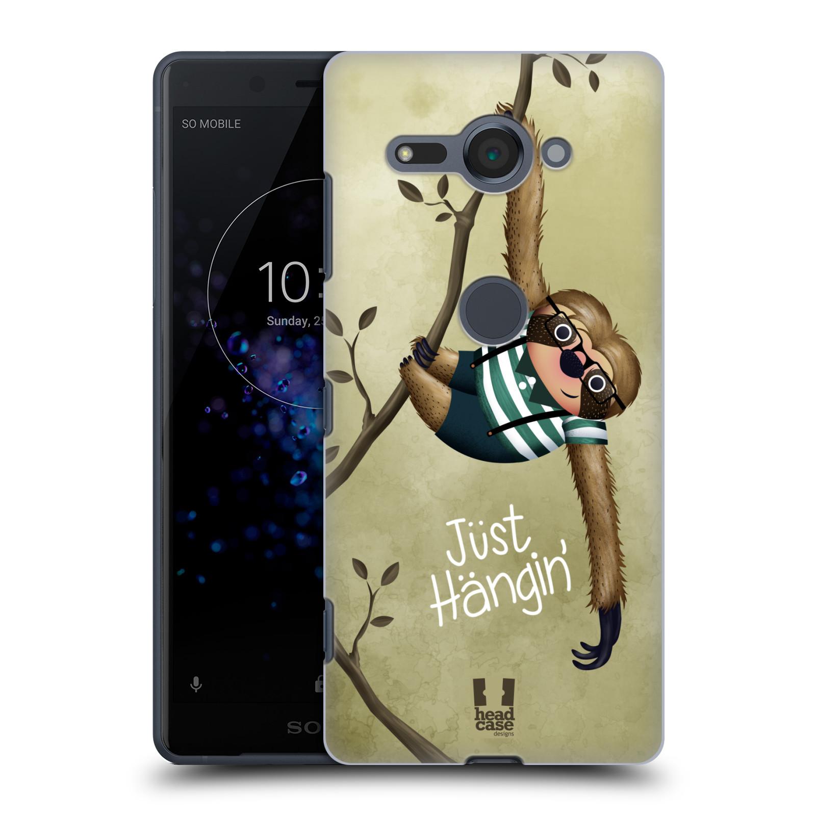 Plastové pouzdro na mobil Sony Xperia XZ2 Compact - Head Case - Lenochod Just Hangin