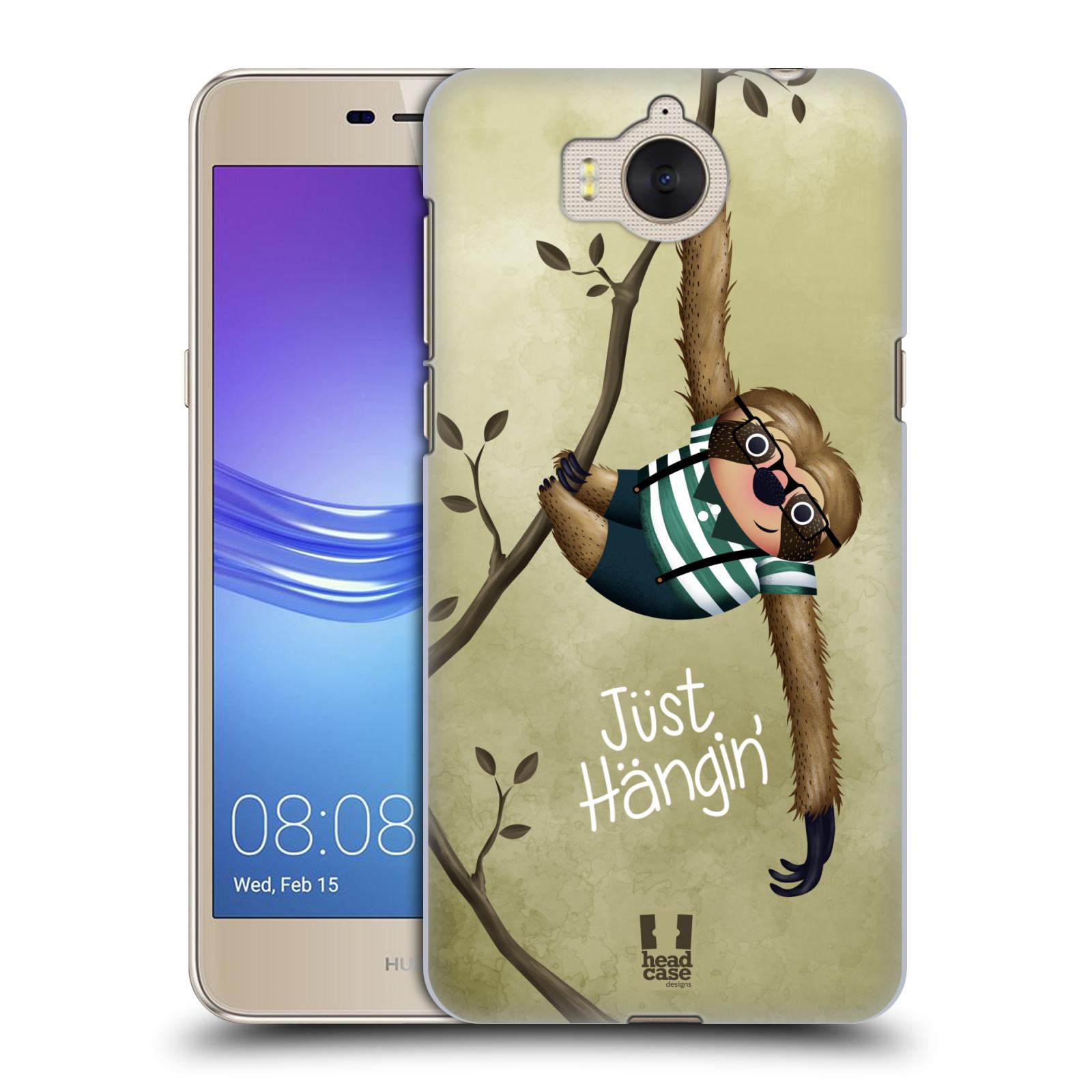 Plastové pouzdro na mobil Huawei Y6 2017 - Head Case - Lenochod Just Hangin
