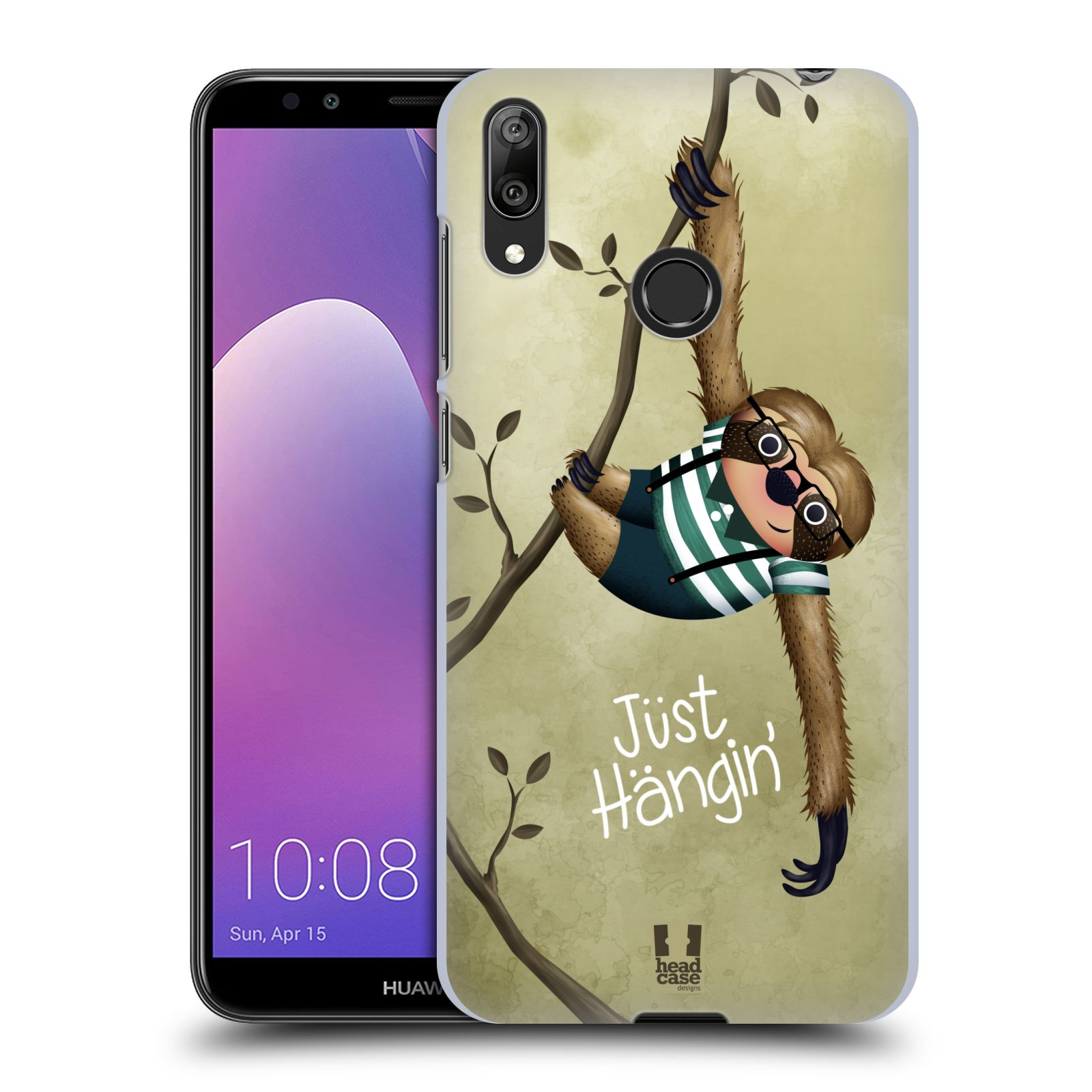 Plastové pouzdro na mobil Huawei Y7 (2019) - Head Case - Lenochod Just Hangin