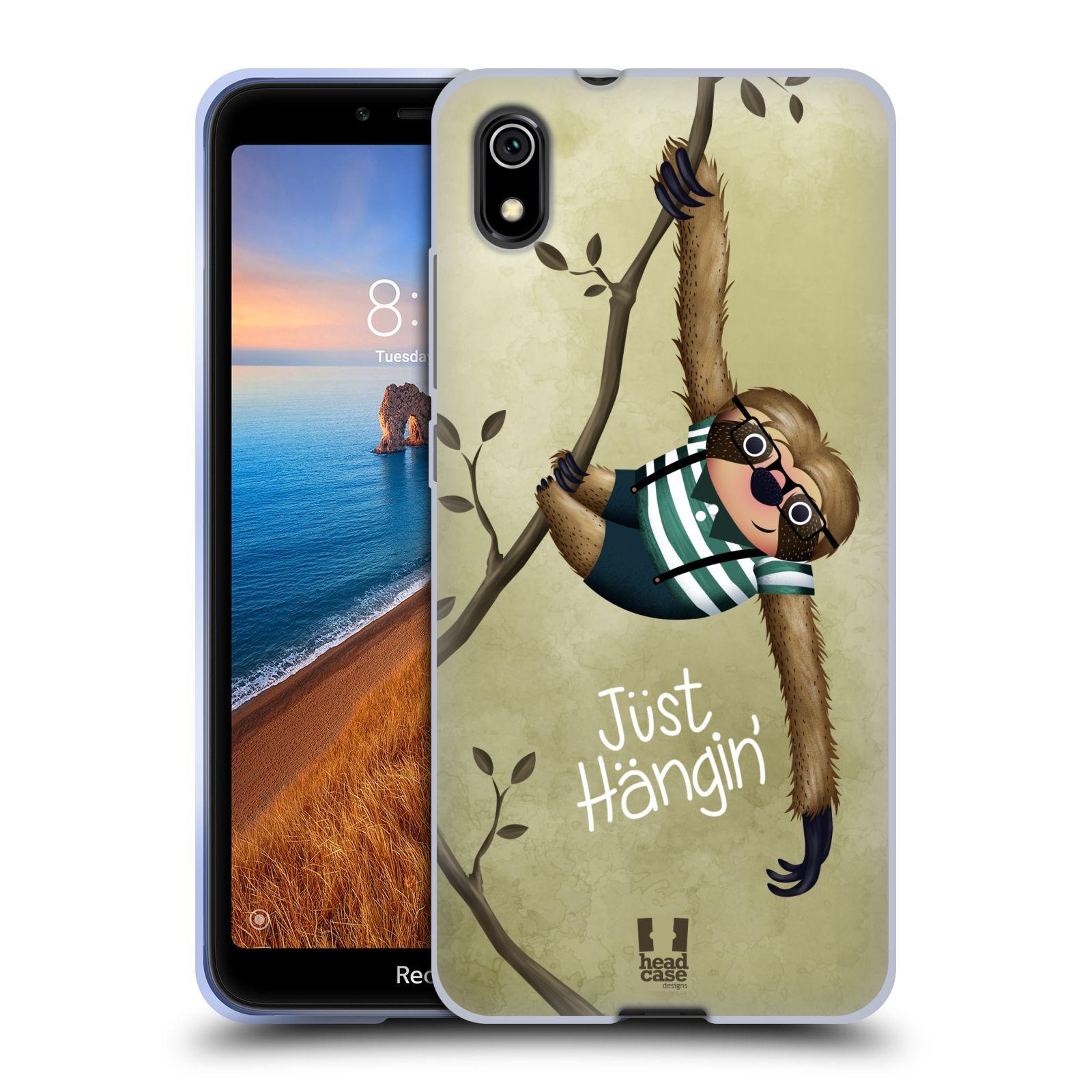 Silikonové pouzdro na mobil Redmi 7A - Head Case - Lenochod Just Hangin