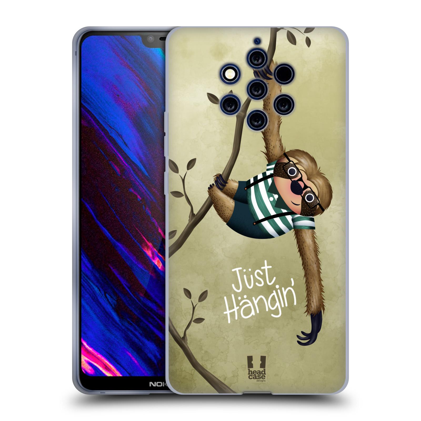 Silikonové pouzdro na mobil Nokia 9 PureView - Head Case - Lenochod Just Hangin