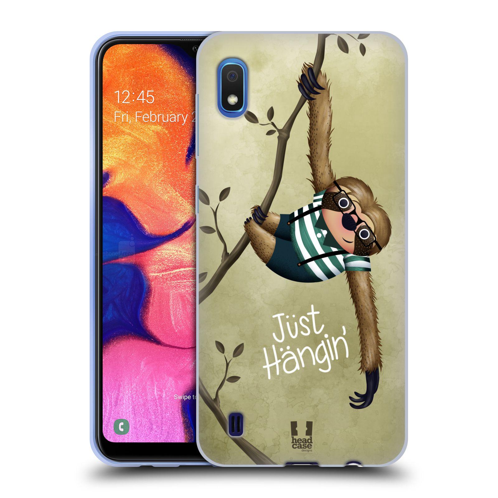 Silikonové pouzdro na mobil Samsung Galaxy A10 - Head Case - Lenochod Just Hangin