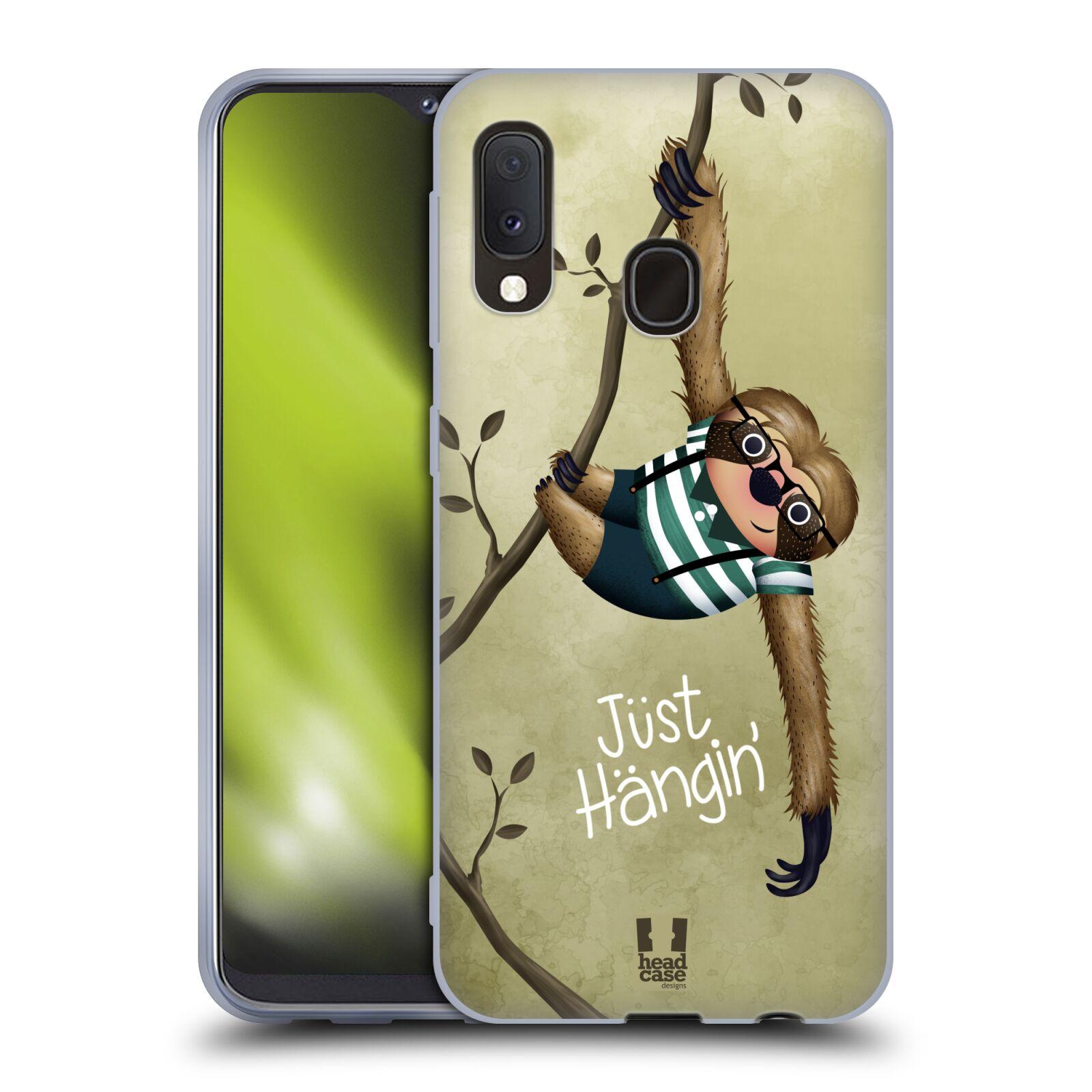 Silikonové pouzdro na mobil Samsung Galaxy A20e - Head Case - Lenochod Just Hangin