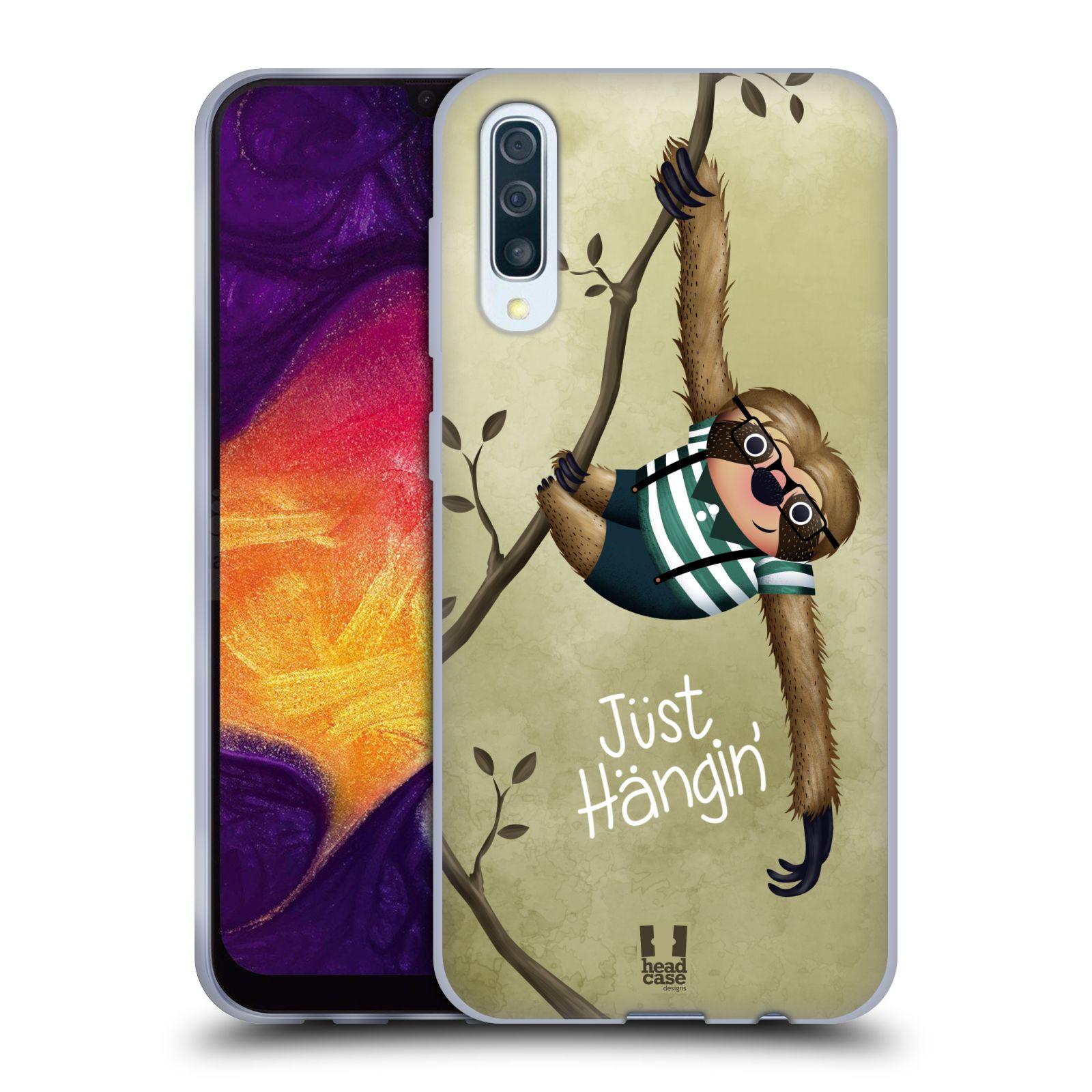 Silikonové pouzdro na mobil Samsung Galaxy A50 / A30s - Head Case - Lenochod Just Hangin