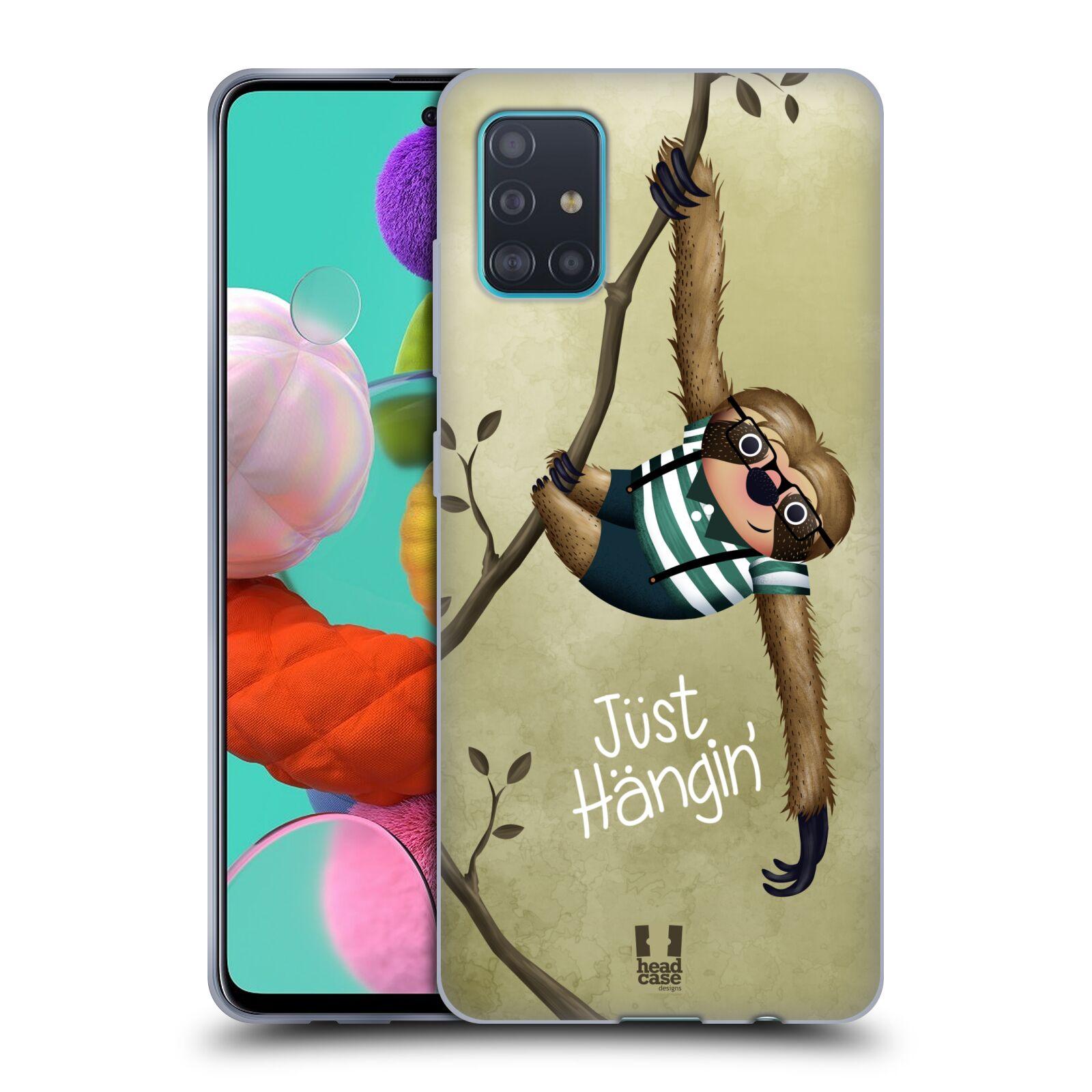 Silikonové pouzdro na mobil Samsung Galaxy A51 - Head Case - Lenochod Just Hangin