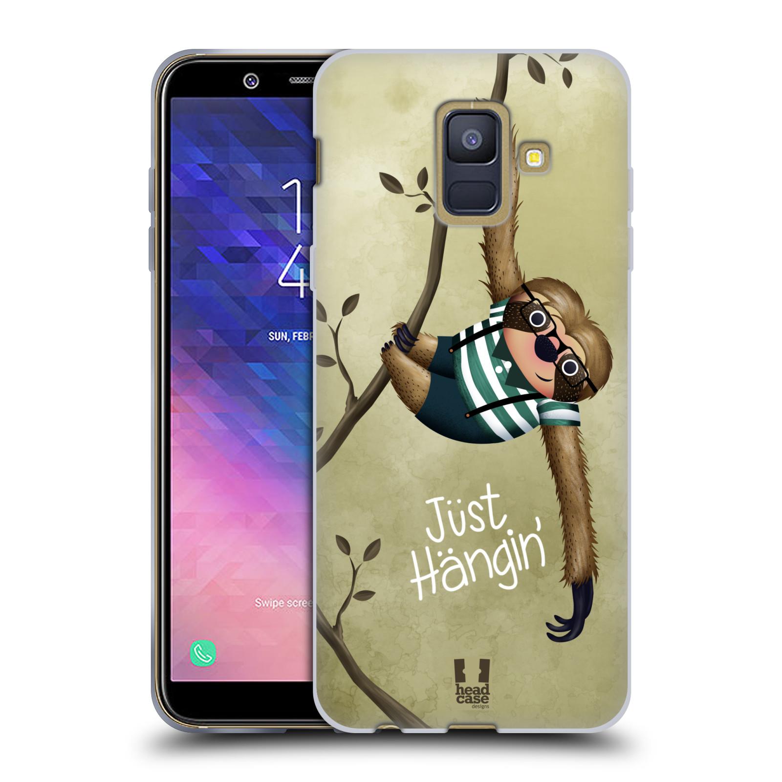 Silikonové pouzdro na mobil Samsung Galaxy A6 (2018) - Head Case - Lenochod Just Hangin