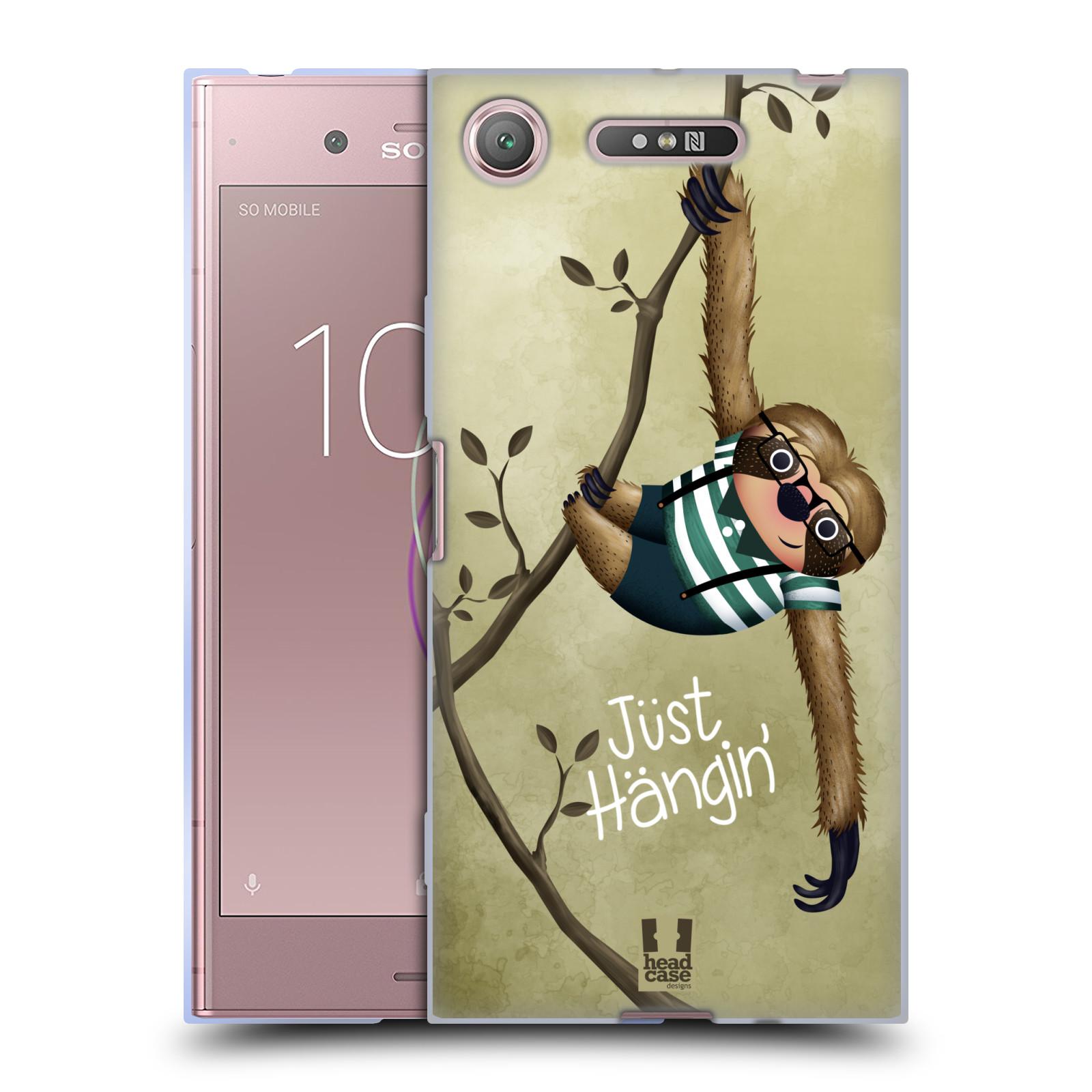 Silikonové pouzdro na mobil Sony Xperia XZ1 - Head Case - Lenochod Just Hangin