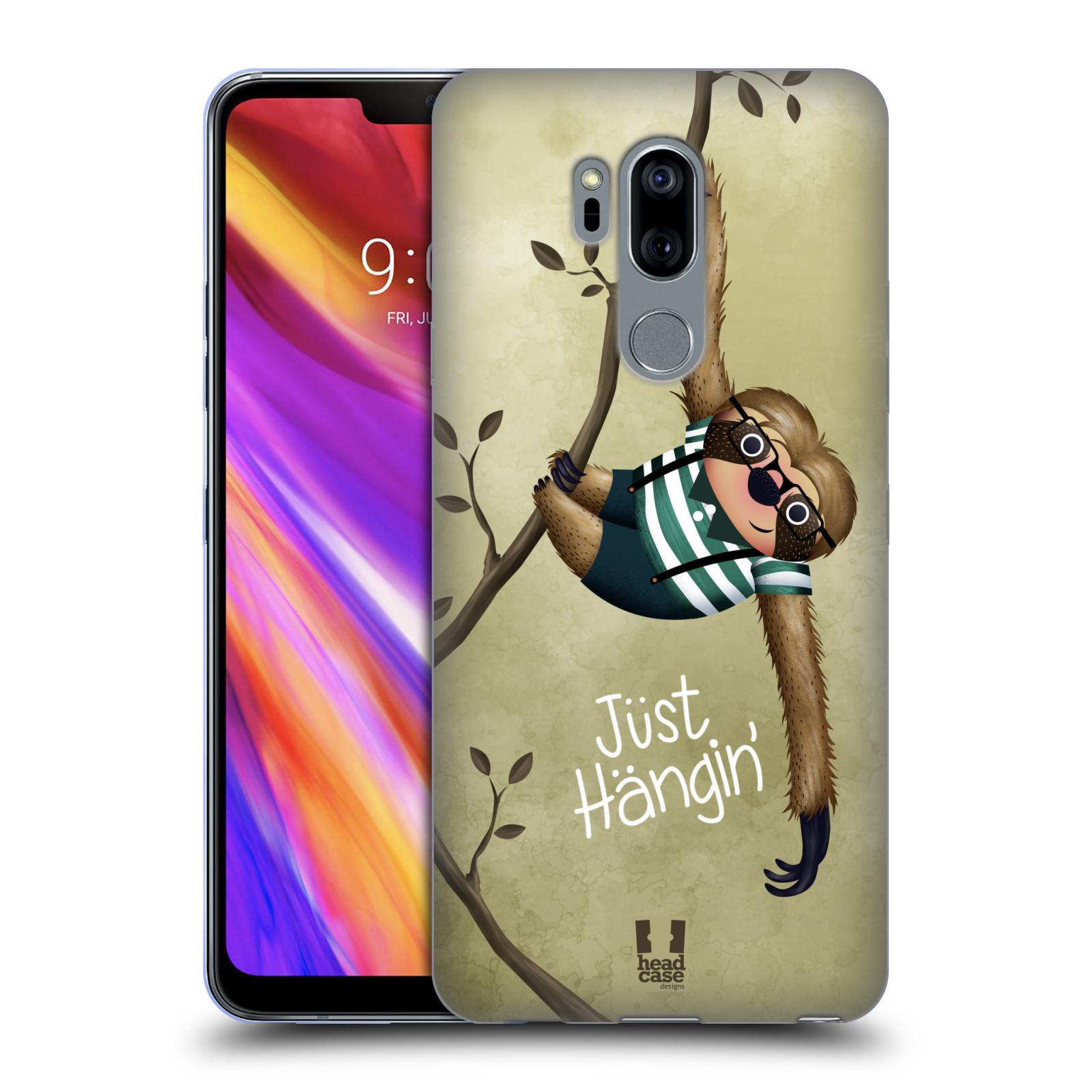 Silikonové pouzdro na mobil LG G7 ThinQ - Head Case - Lenochod Just Hangin