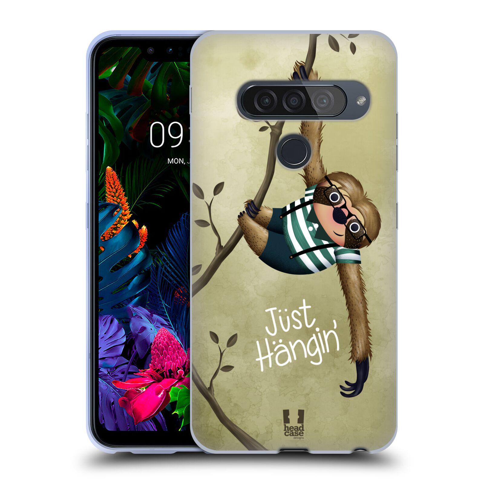 Silikonové pouzdro na mobil LG G8s ThinQ - Head Case - Lenochod Just Hangin
