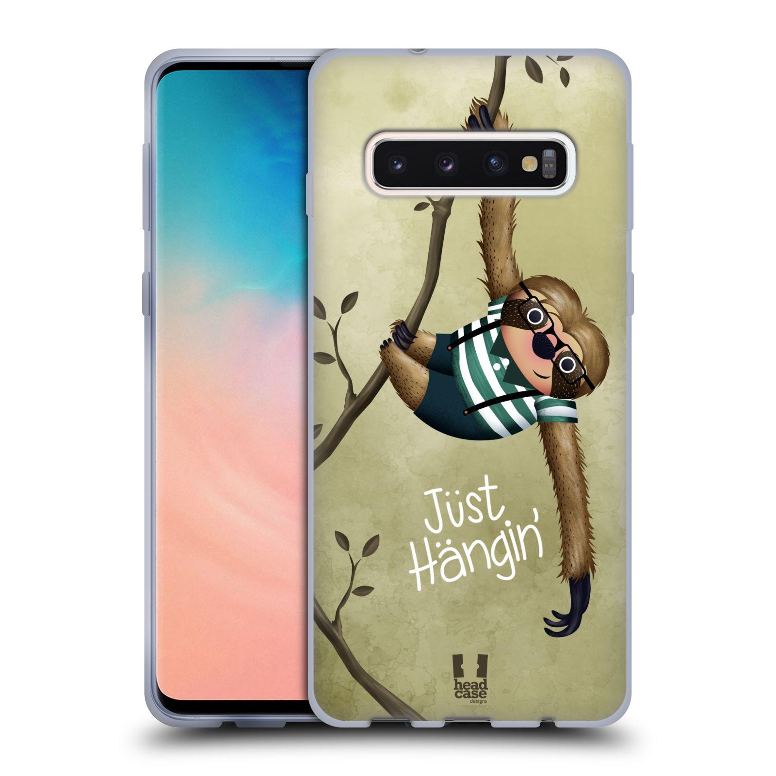 Silikonové pouzdro na mobil Samsung Galaxy S10 - Head Case - Lenochod Just Hangin