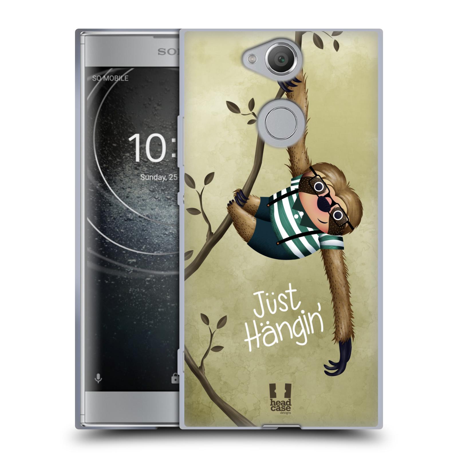 Silikonové pouzdro na mobil Sony Xperia XA2 - Head Case - Lenochod Just Hangin