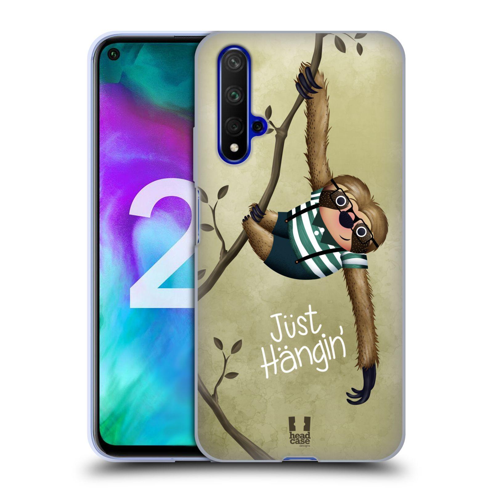 Silikonové pouzdro na mobil Honor 20 - Head Case - Lenochod Just Hangin