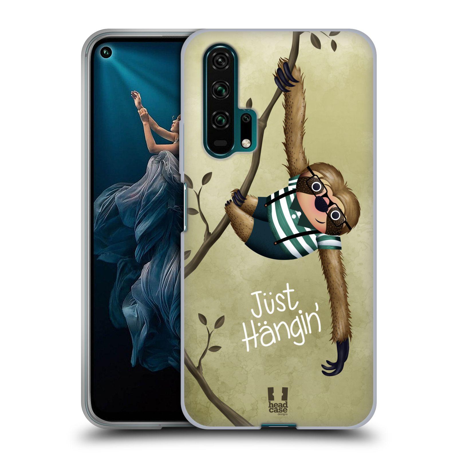 Silikonové pouzdro na mobil Honor 20 Pro - Head Case - Lenochod Just Hangin