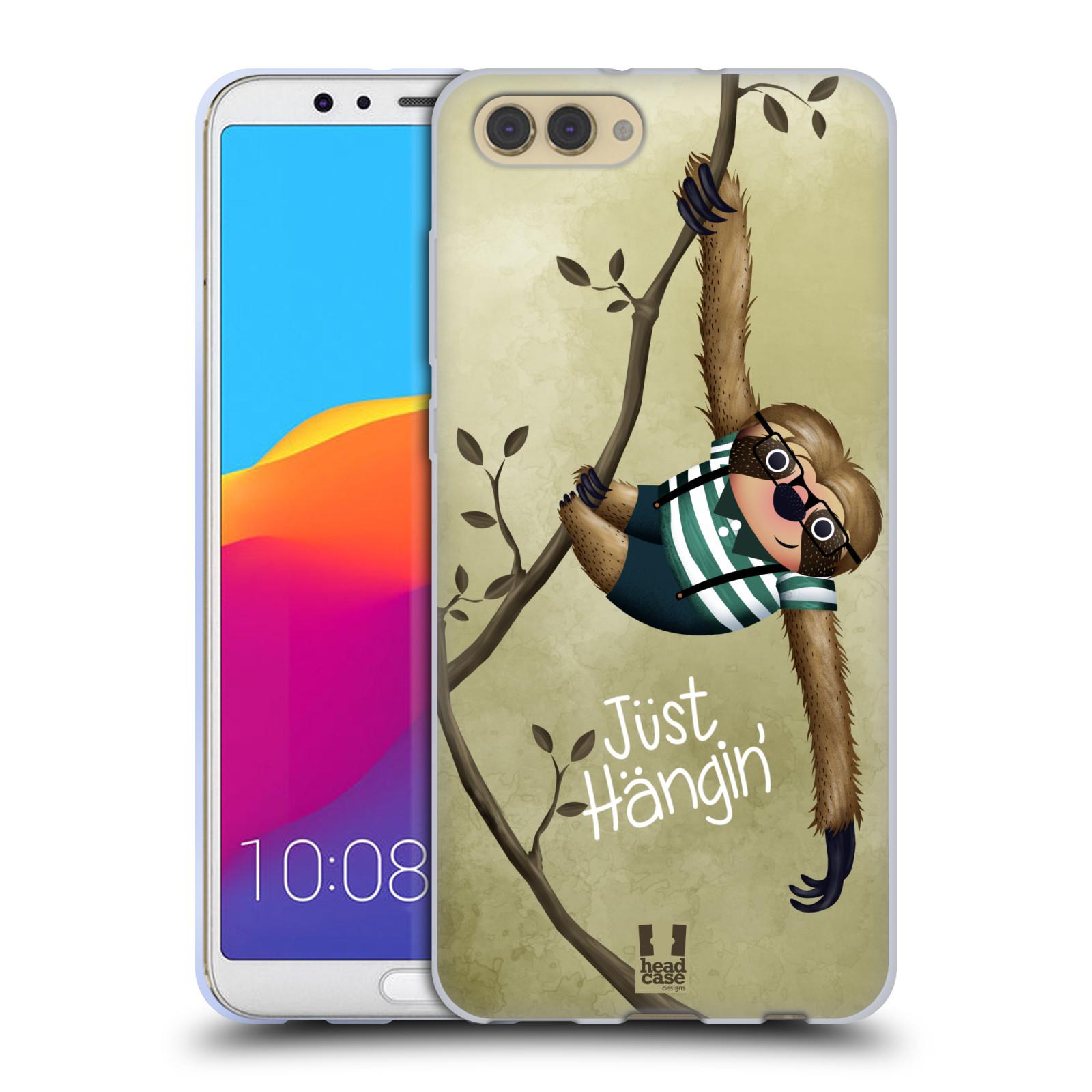 Silikonové pouzdro na mobil Honor View 10 - Head Case - Lenochod Just Hangin
