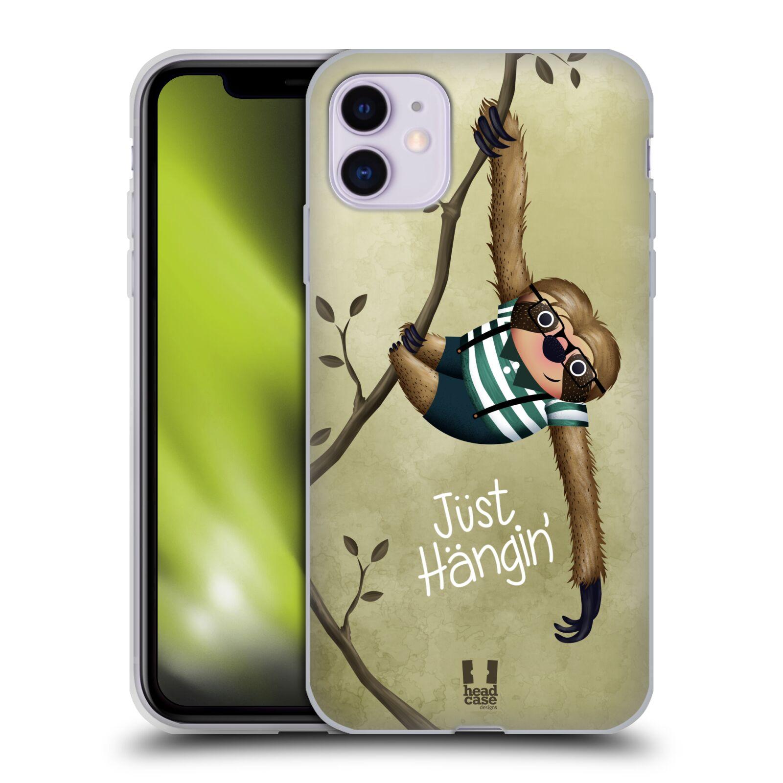 Silikonové pouzdro na mobil Apple iPhone 11 - Head Case - Lenochod Just Hangin