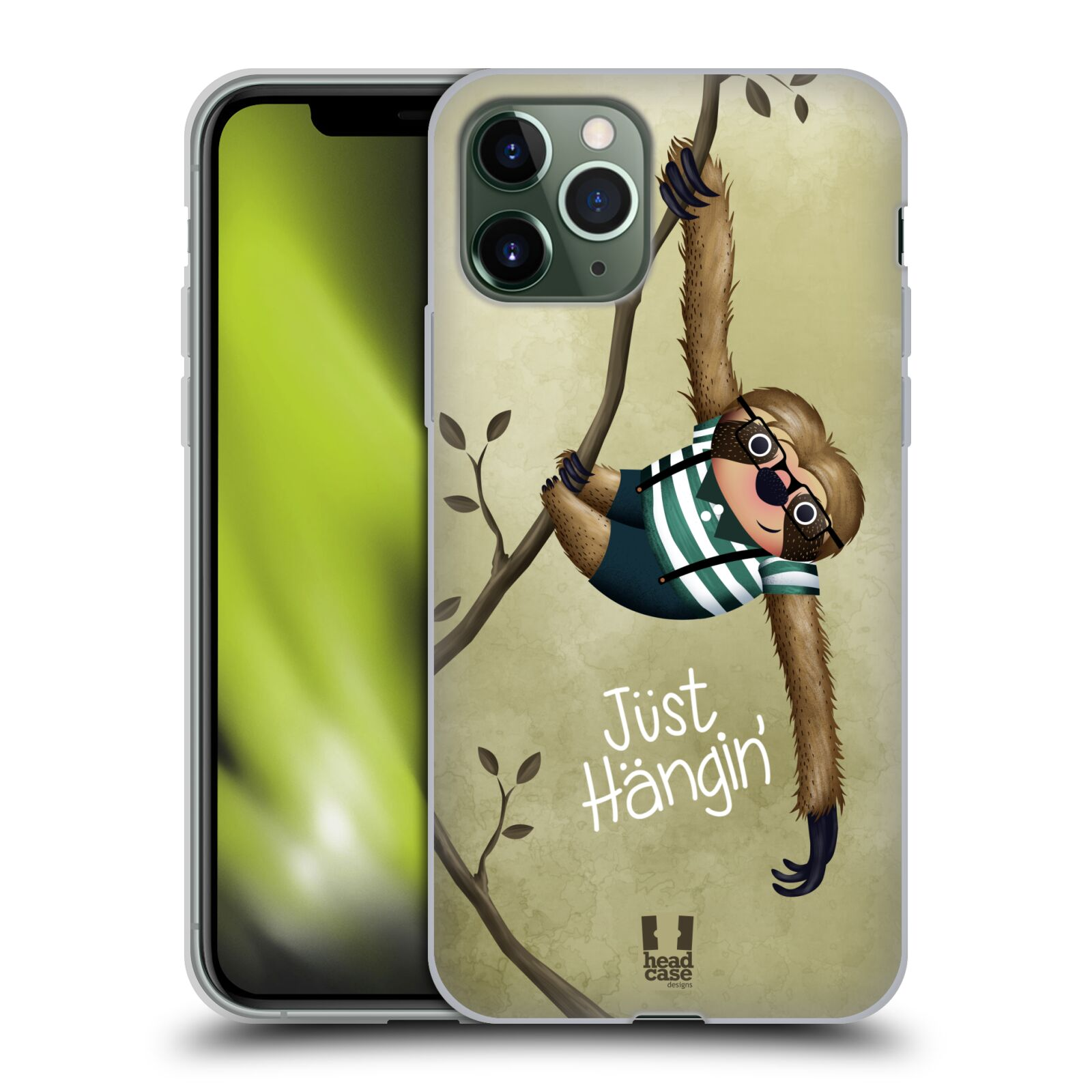 gucci iphone xs max | Silikonové pouzdro na mobil Apple iPhone 11 Pro - Head Case - Lenochod Just Hangin