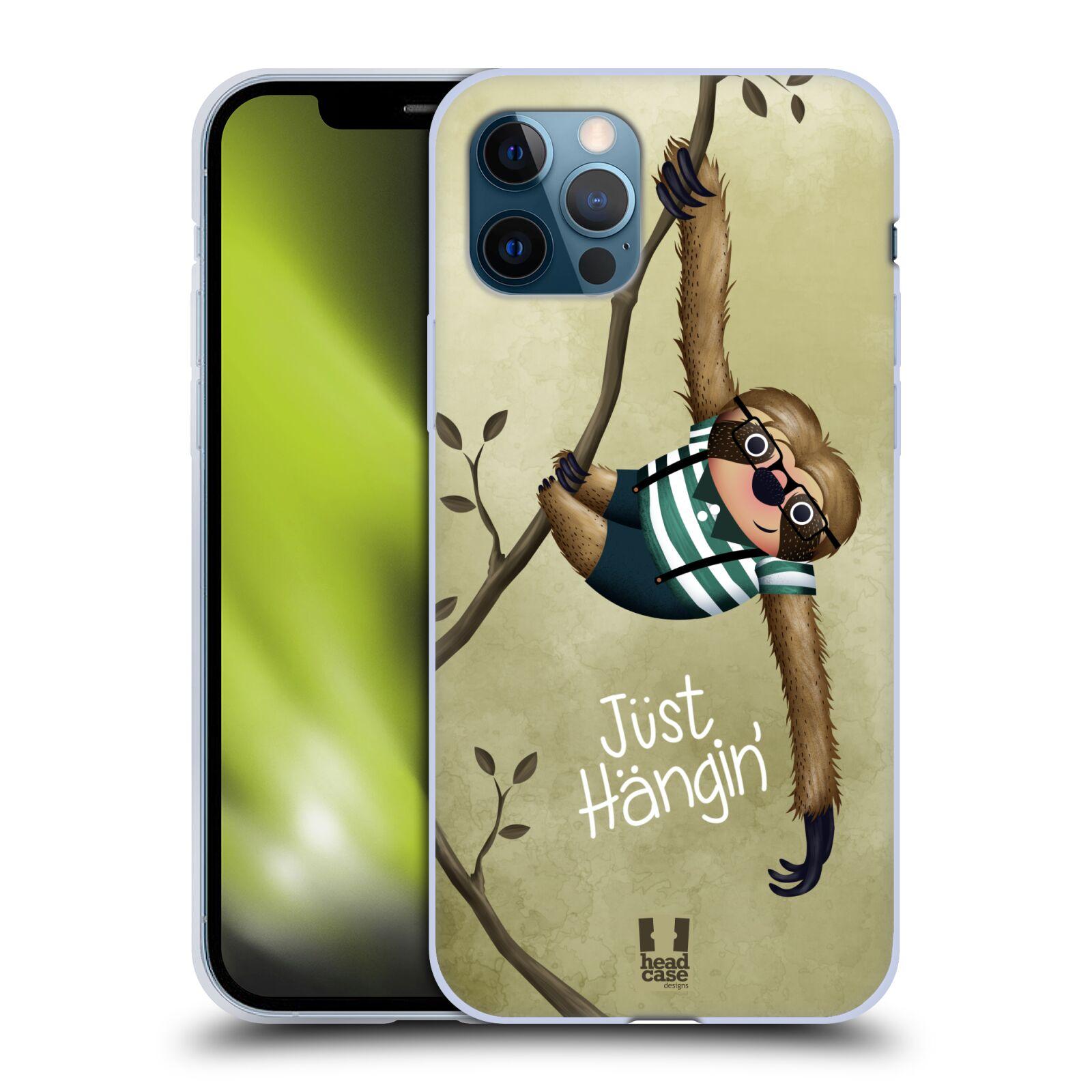 Silikonové pouzdro na mobil Apple iPhone 12 / 12 Pro - Head Case - Lenochod Just Hangin
