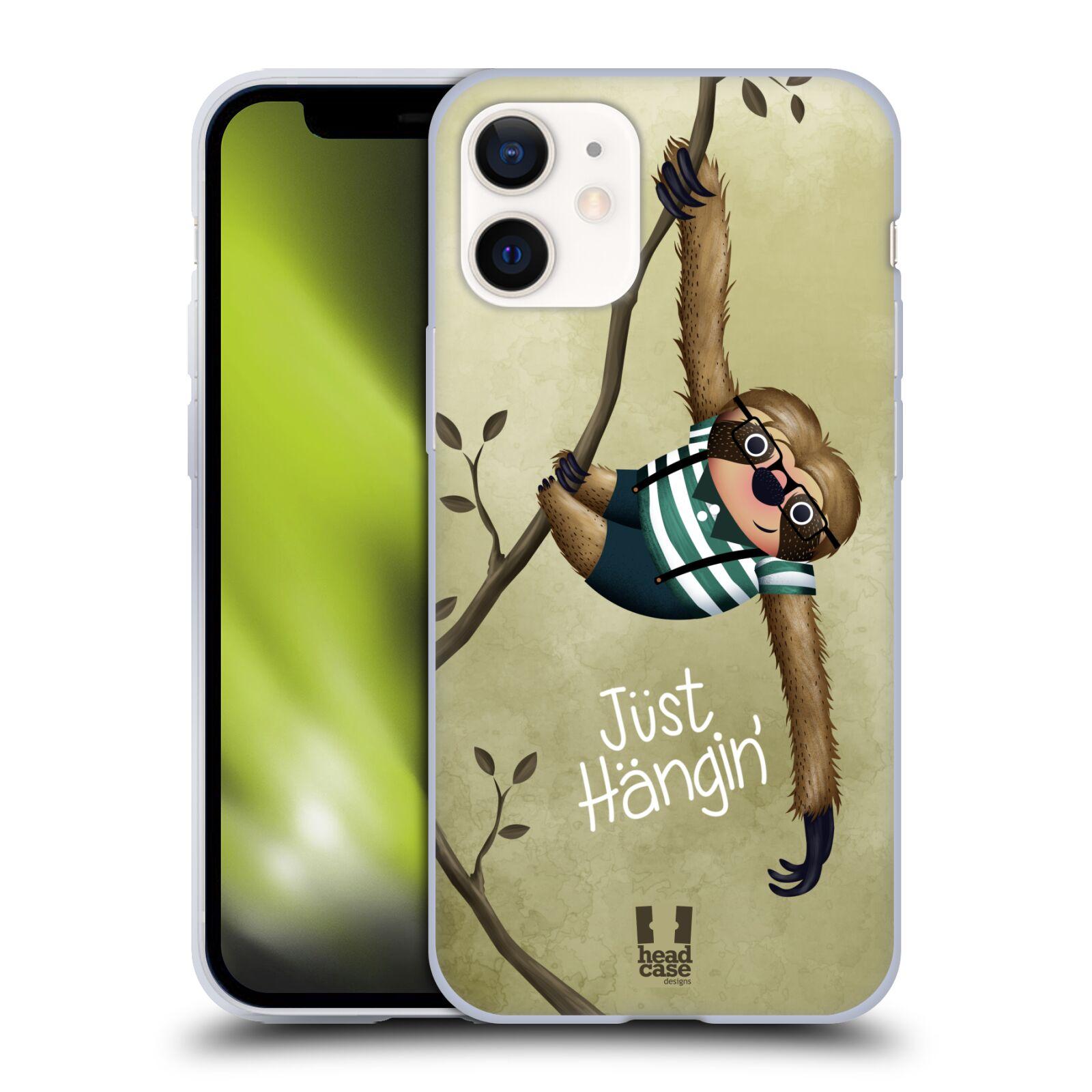 Silikonové pouzdro na mobil Apple iPhone 12 Mini - Head Case - Lenochod Just Hangin