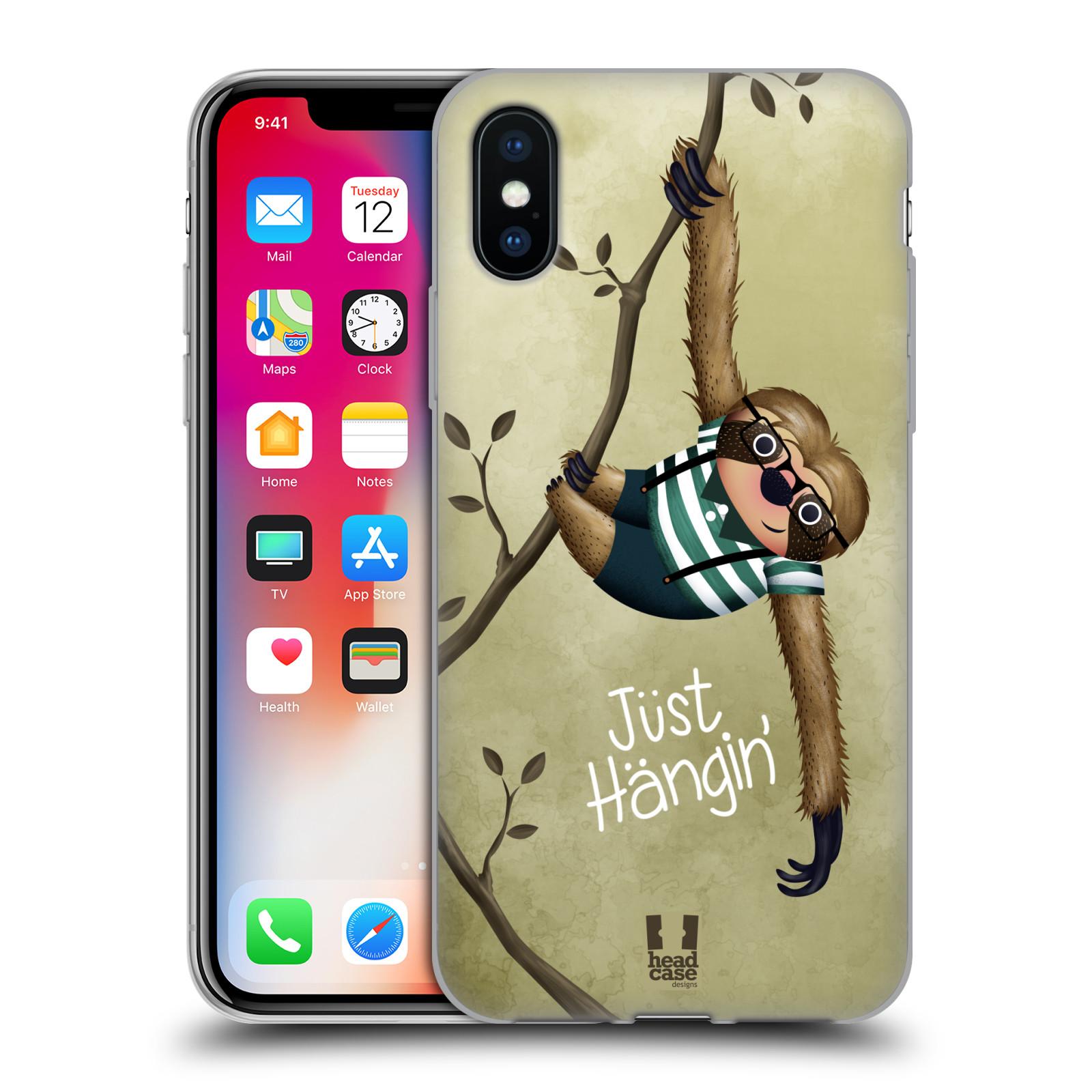 Silikonové pouzdro na mobil Apple iPhone XS - Head Case - Lenochod Just Hangin