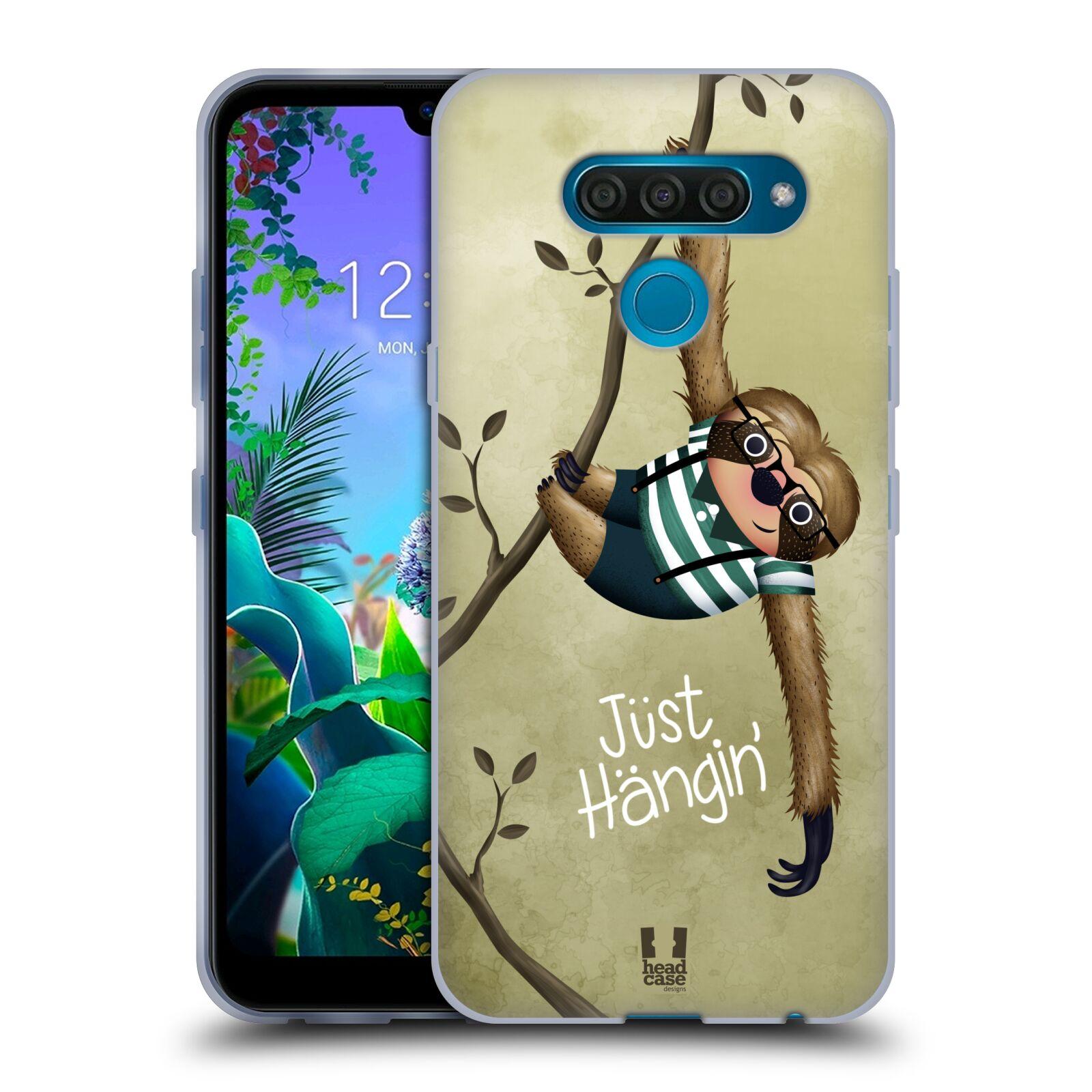 Silikonové pouzdro na mobil LG Q60 - Head Case - Lenochod Just Hangin