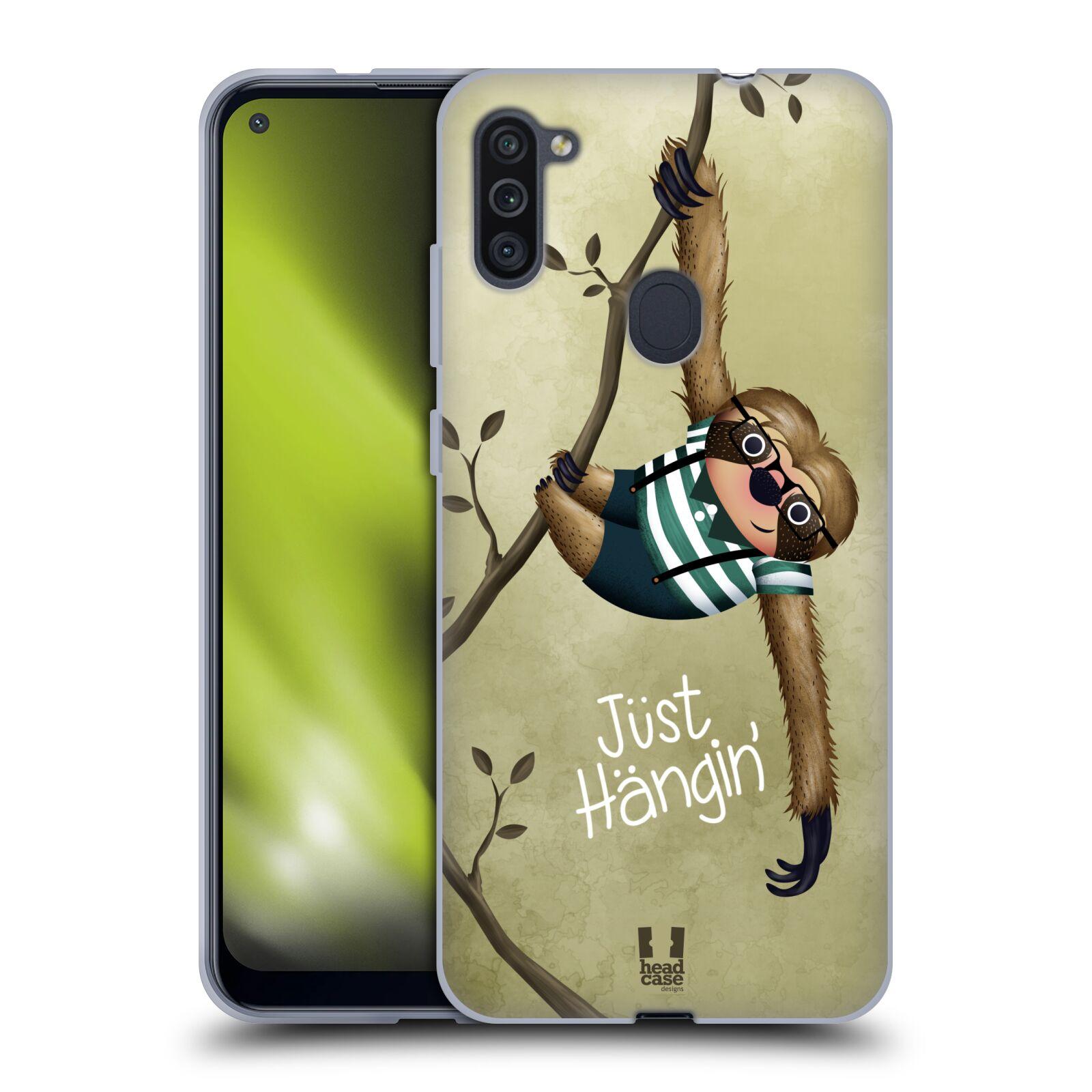 Silikonové pouzdro na mobil Samsung Galaxy M11 - Head Case - Lenochod Just Hangin