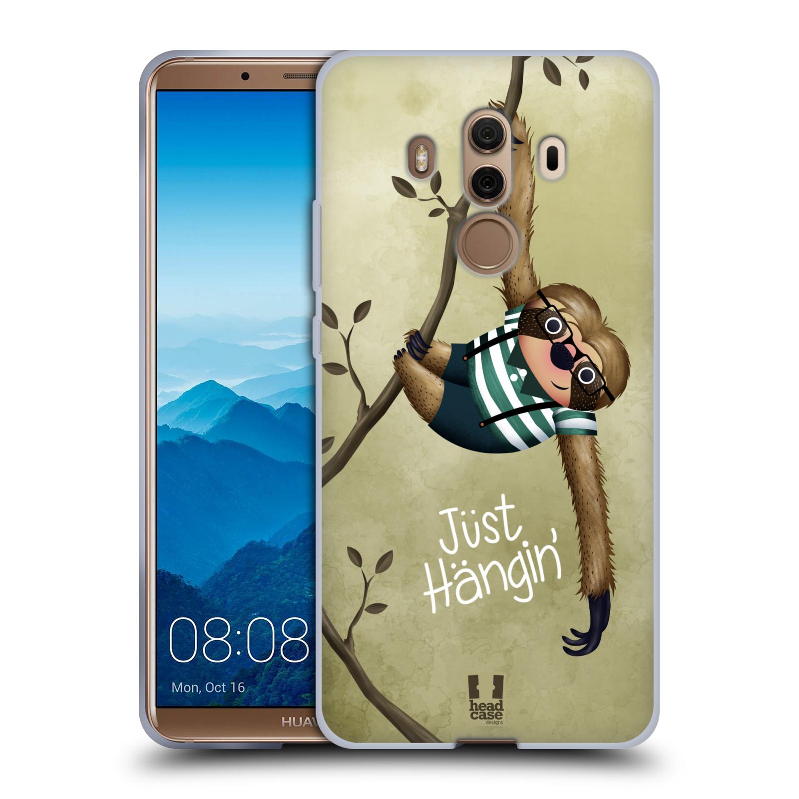 Silikonové pouzdro na mobil Huawei Mate 10 Pro - Head Case - Lenochod Just Hangin