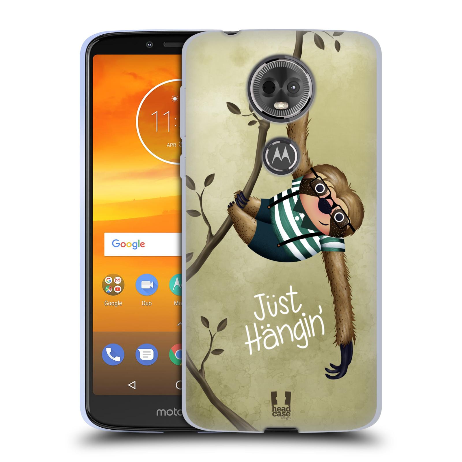 Silikonové pouzdro na mobil Motorola Moto E5 Plus - Head Case - Lenochod Just Hangin