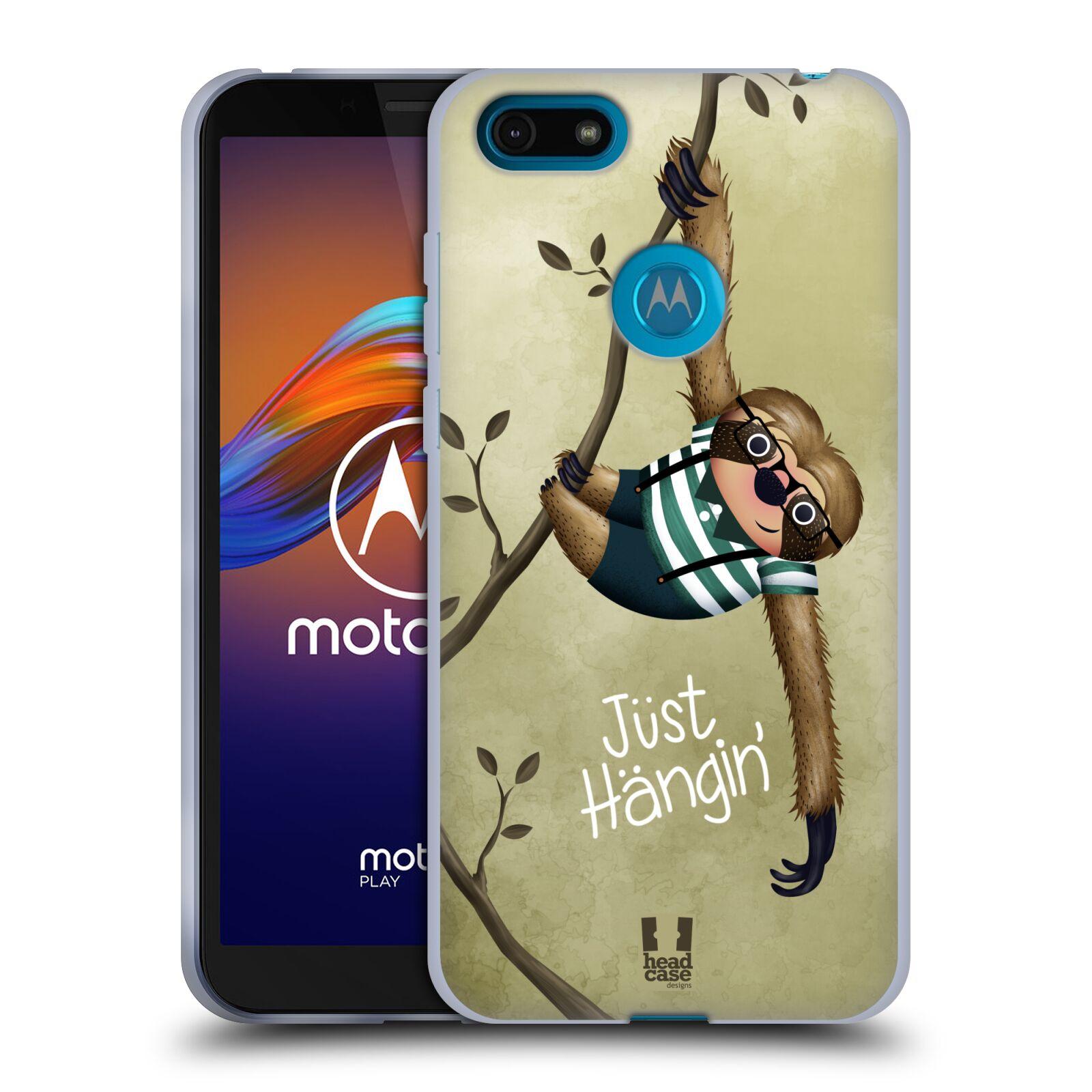 Silikonové pouzdro na mobil Motorola Moto E6 Play - Head Case - Lenochod Just Hangin