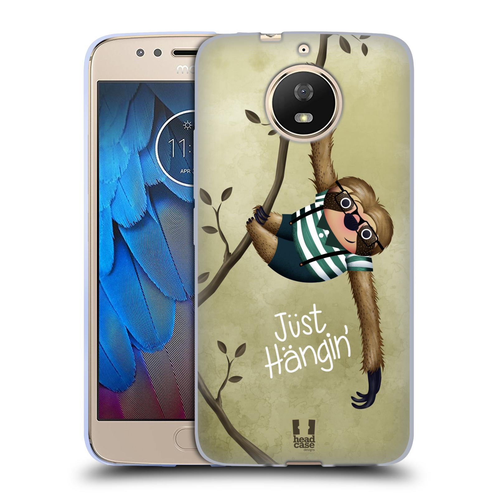 Silikonové pouzdro na mobil Lenovo Moto G5s - Head Case - Lenochod Just Hangin