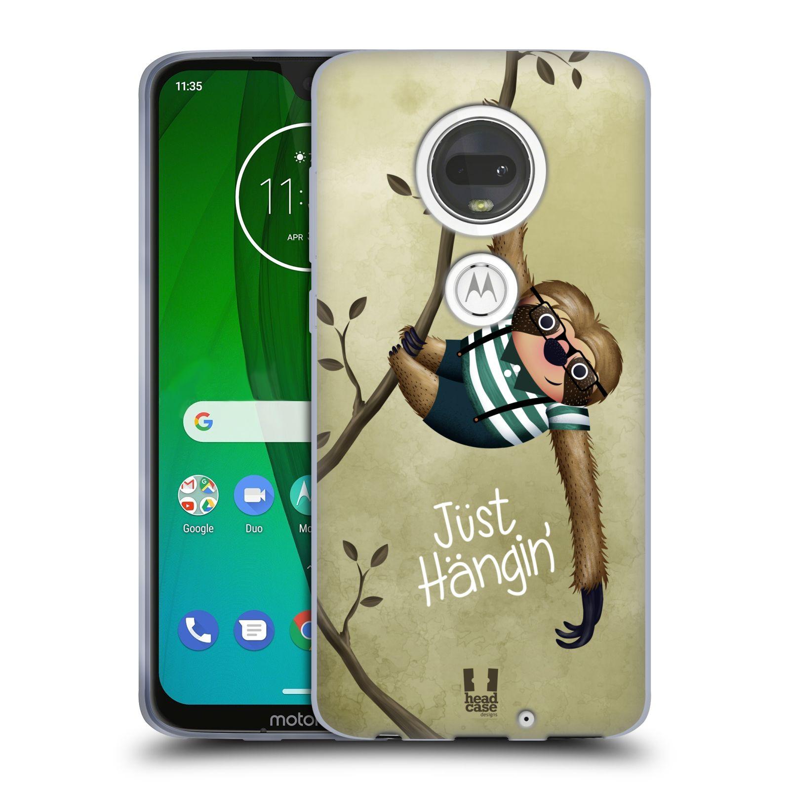 Silikonové pouzdro na mobil Motorola Moto G7 - Head Case - Lenochod Just Hangin