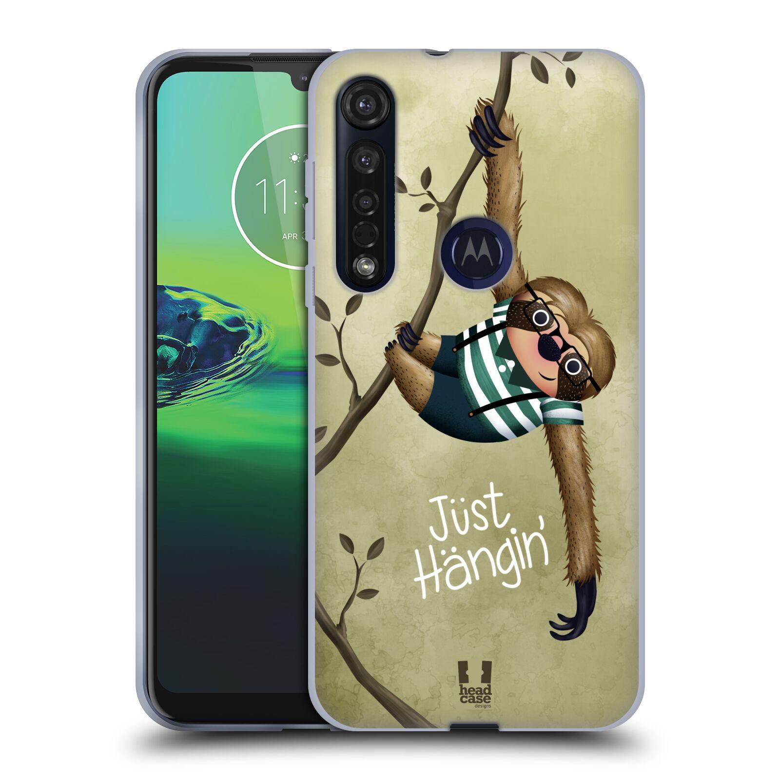Silikonové pouzdro na mobil Motorola Moto G8 Plus - Head Case - Lenochod Just Hangin