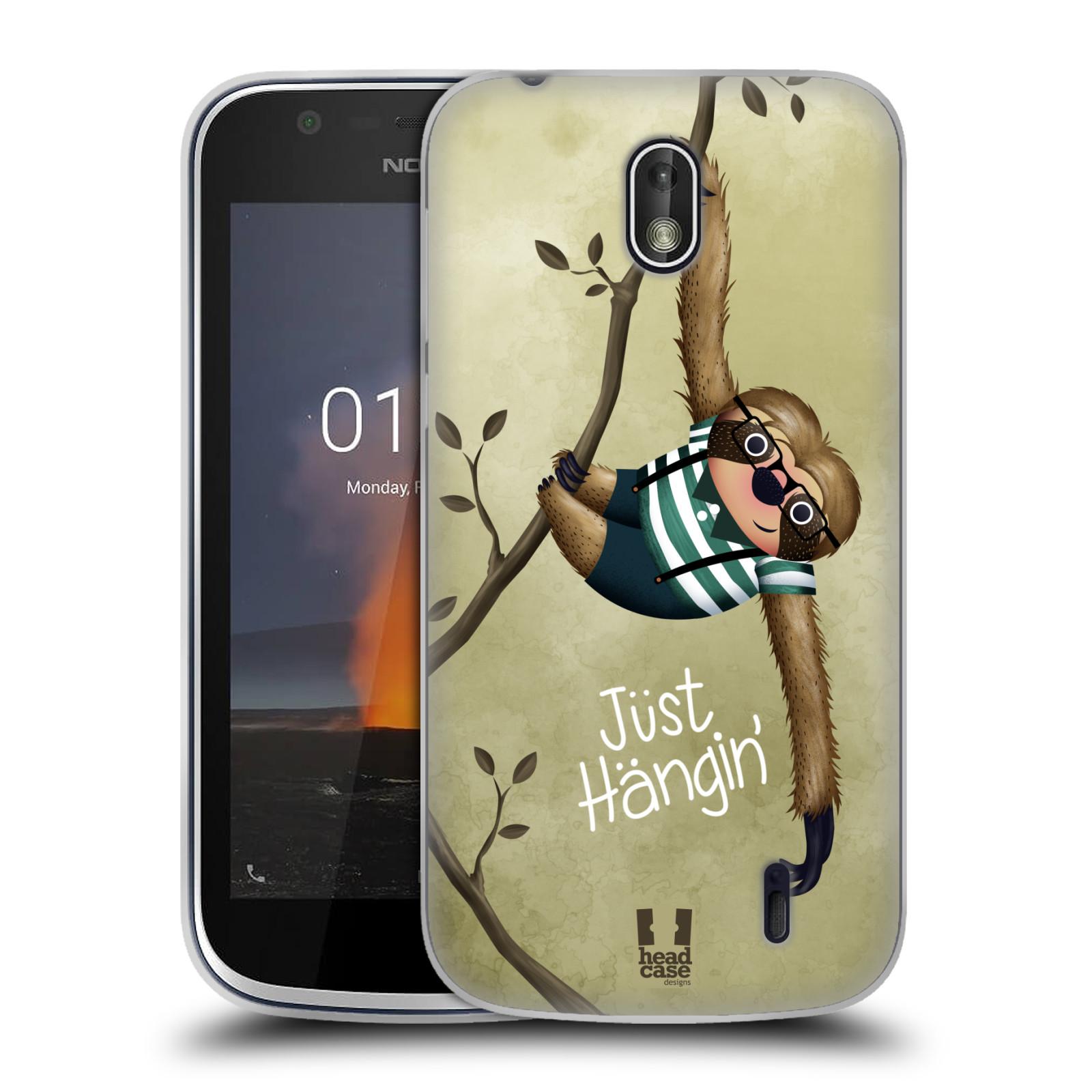 Silikonové pouzdro na mobil Nokia 1 - Head Case - Lenochod Just Hangin