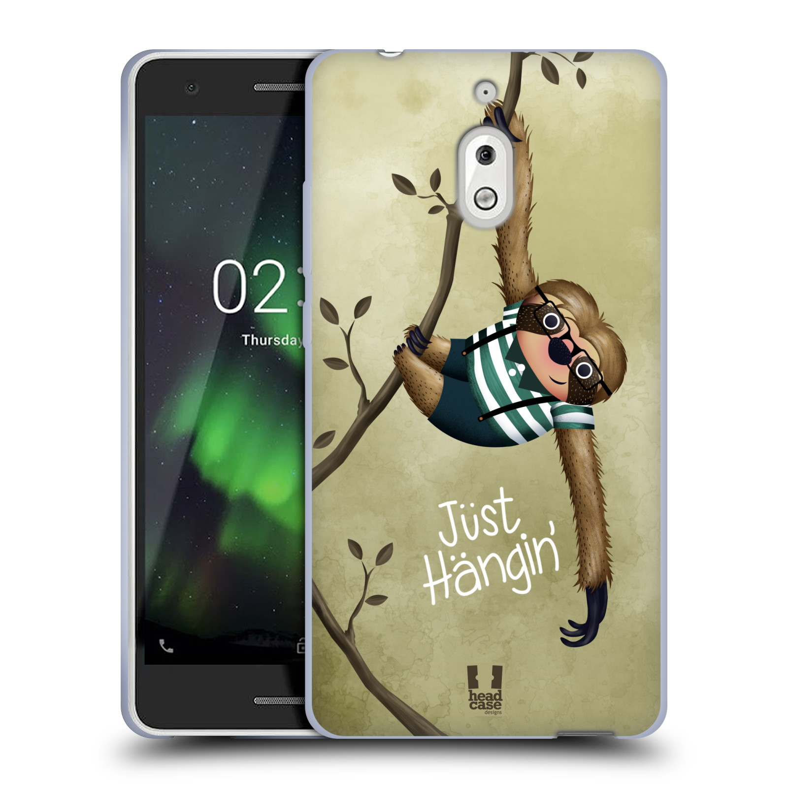 Silikonové pouzdro na mobil Nokia 2.1 - Head Case - Lenochod Just Hangin