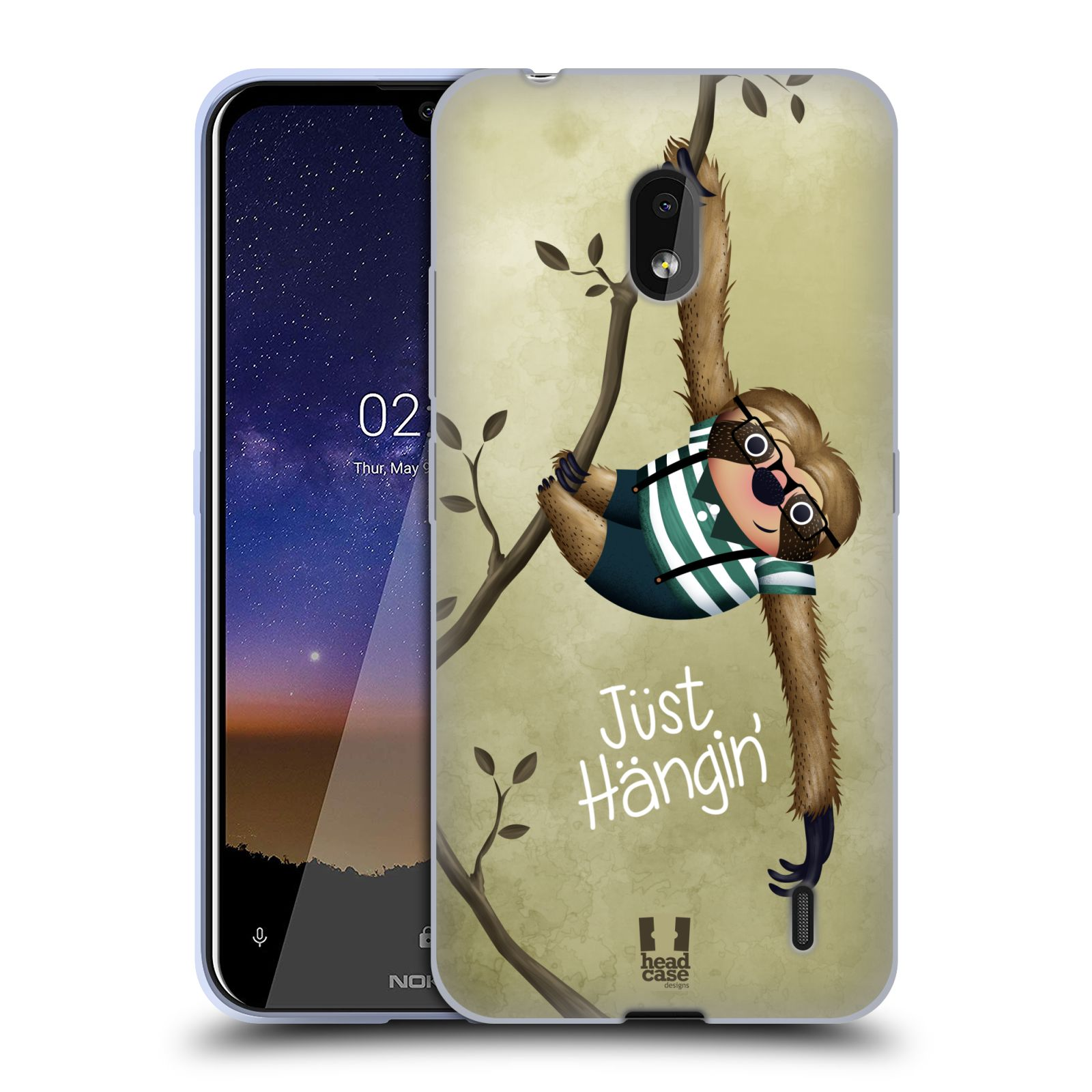 Silikonové pouzdro na mobil Nokia 2.2 - Head Case - Lenochod Just Hangin