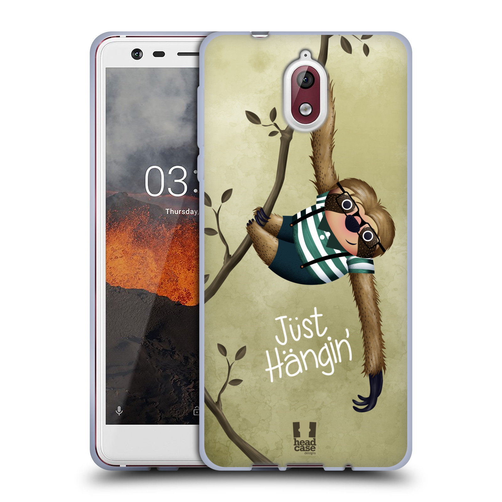 Silikonové pouzdro na mobil Nokia 3.1 - Head Case - Lenochod Just Hangin